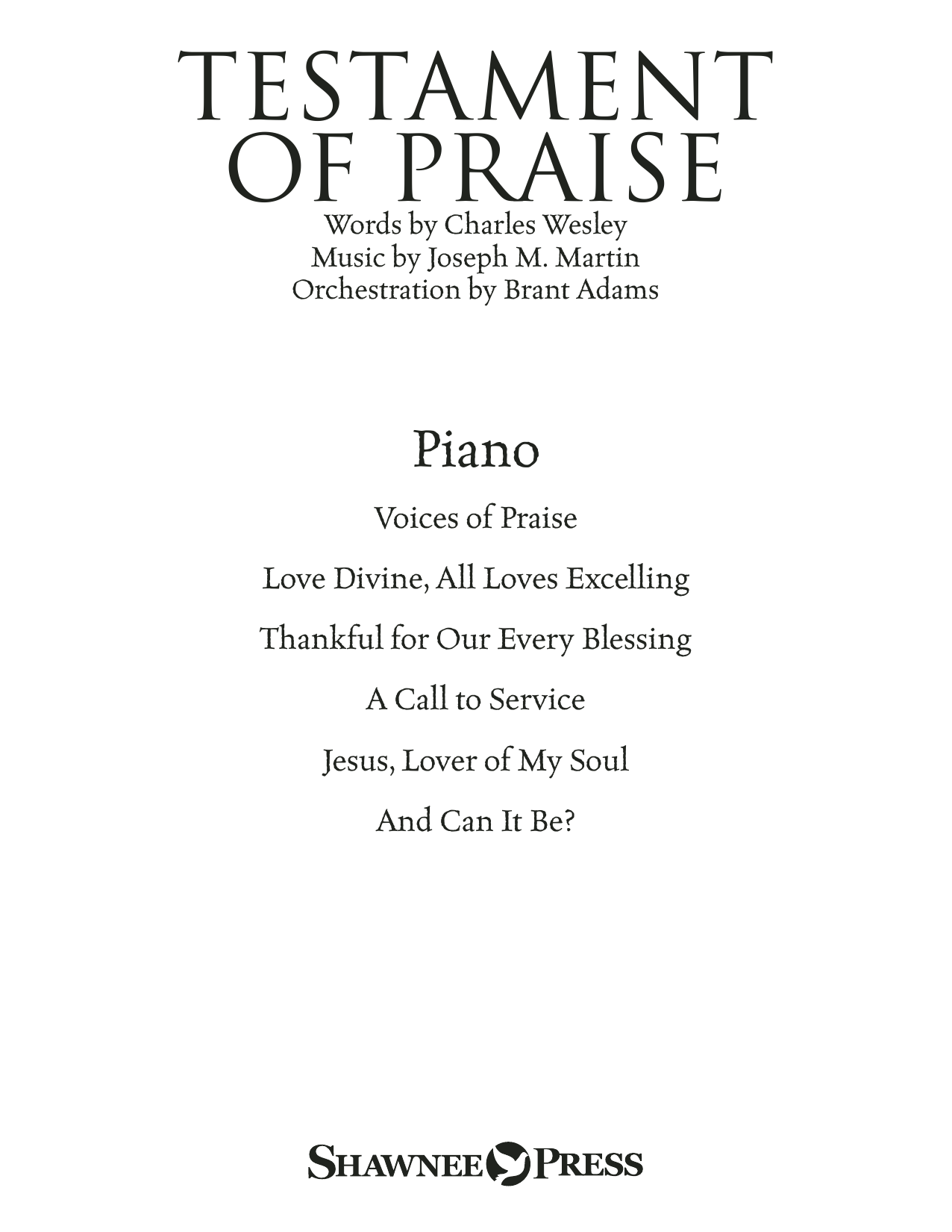 Testament of Praise (A Celebration of Faith) - Piano Sheet Music