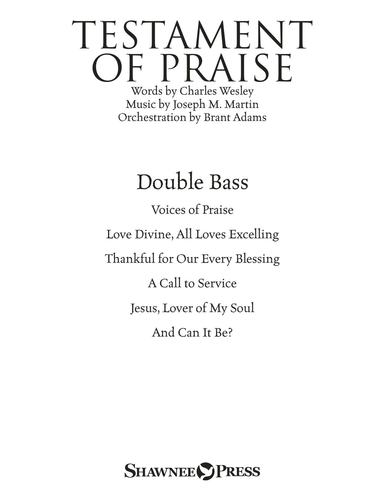 Testament of Praise (A Celebration of Faith) - Double Bass (Choir Instrumental Pak)