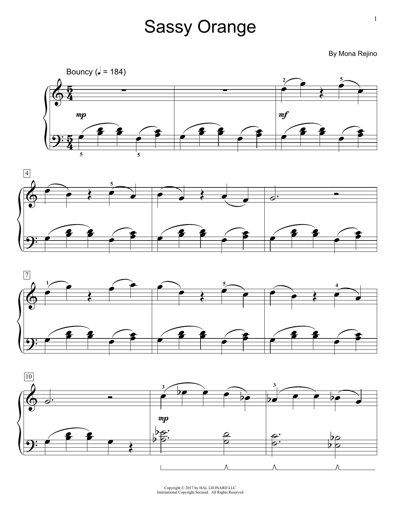 Sassy Orange (Educational Piano)