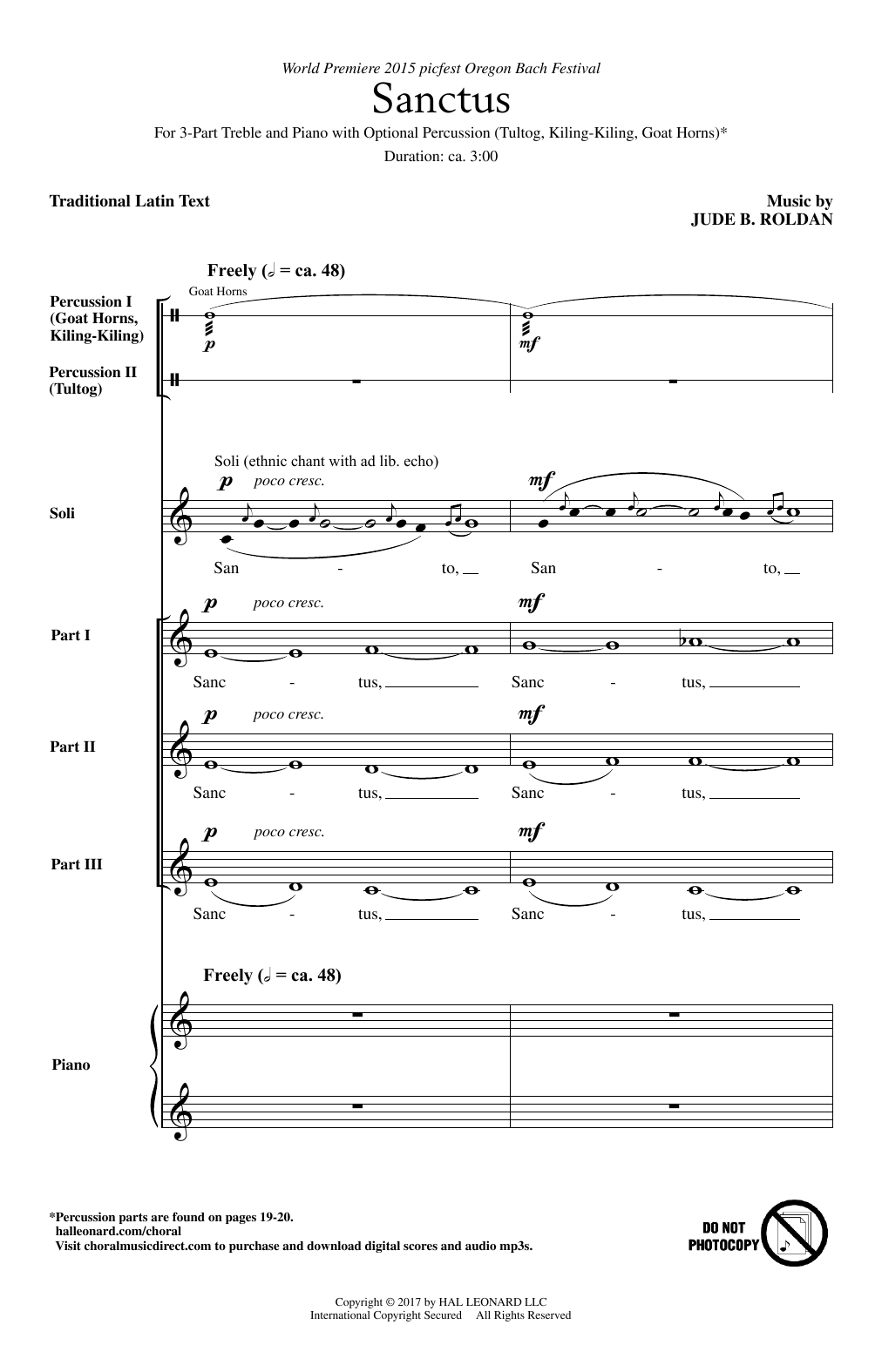 Sanctus Sheet Music
