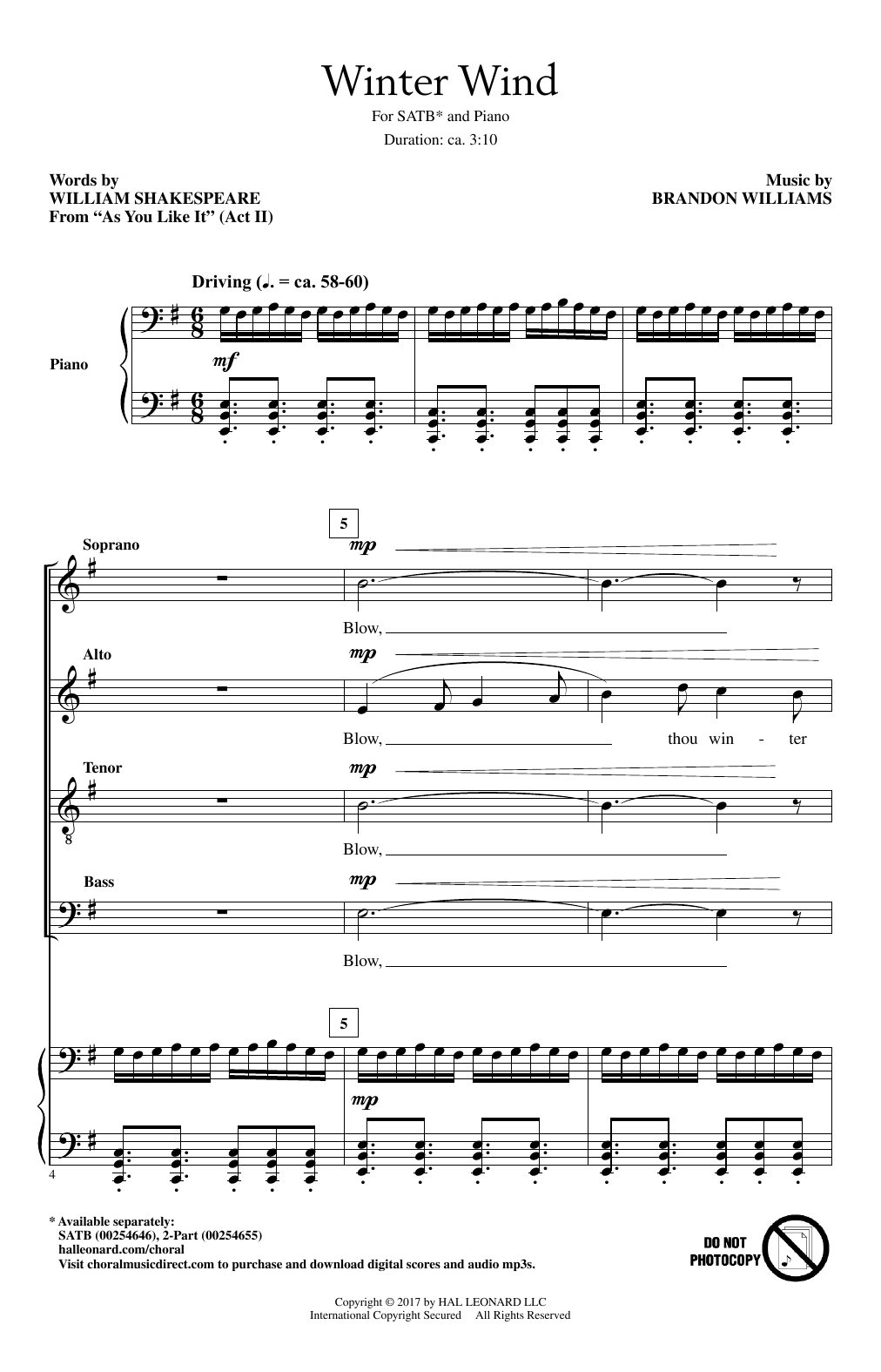 Winter Wind Sheet Music