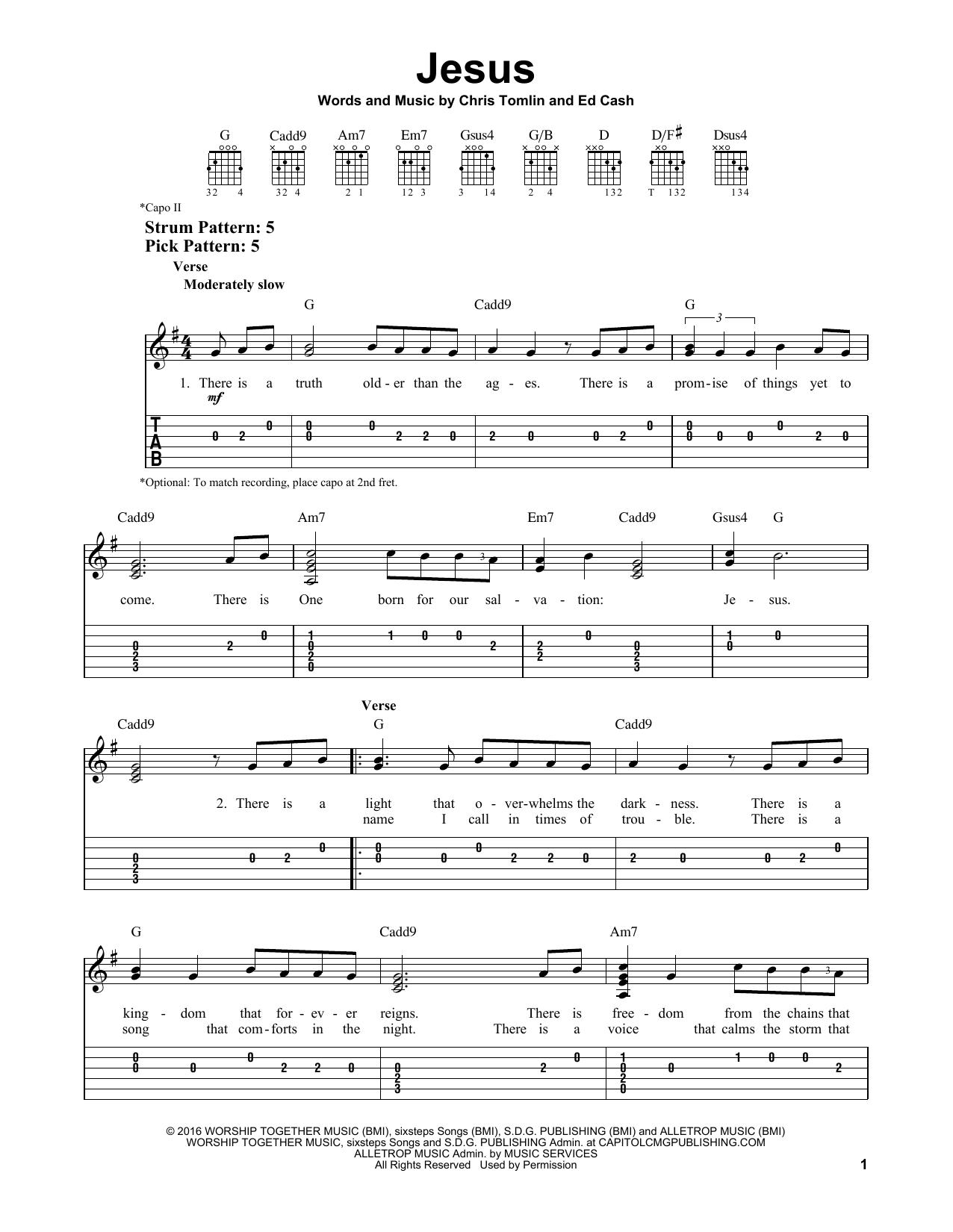 Jesus (Easy Guitar Tab)