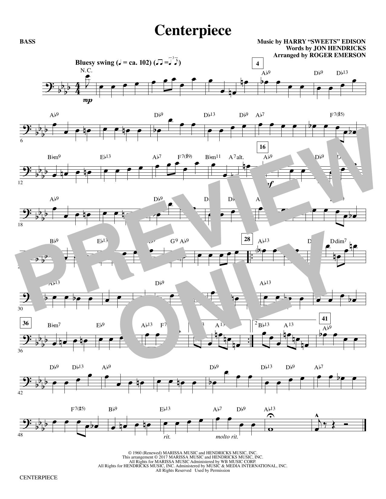 Centerpiece - Bass (Choir Instrumental Pak)