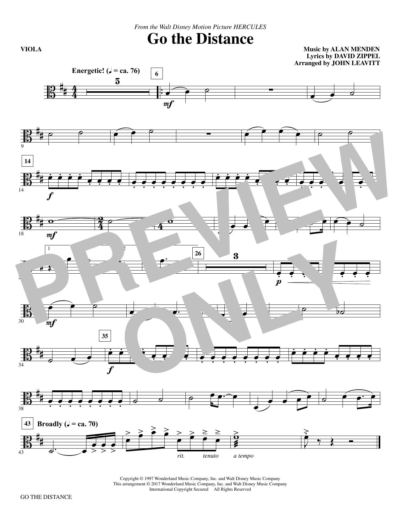 Go the Distance - Viola (Choir Instrumental Pak)