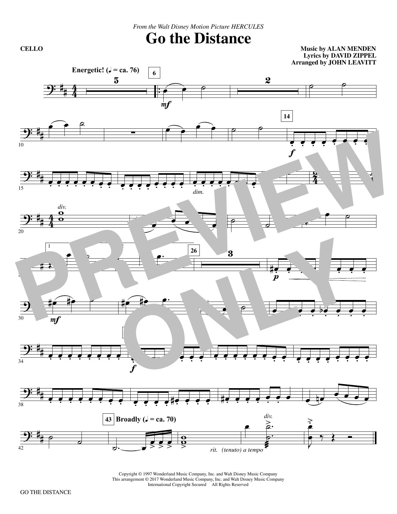 Go the Distance - Cello (Choir Instrumental Pak)
