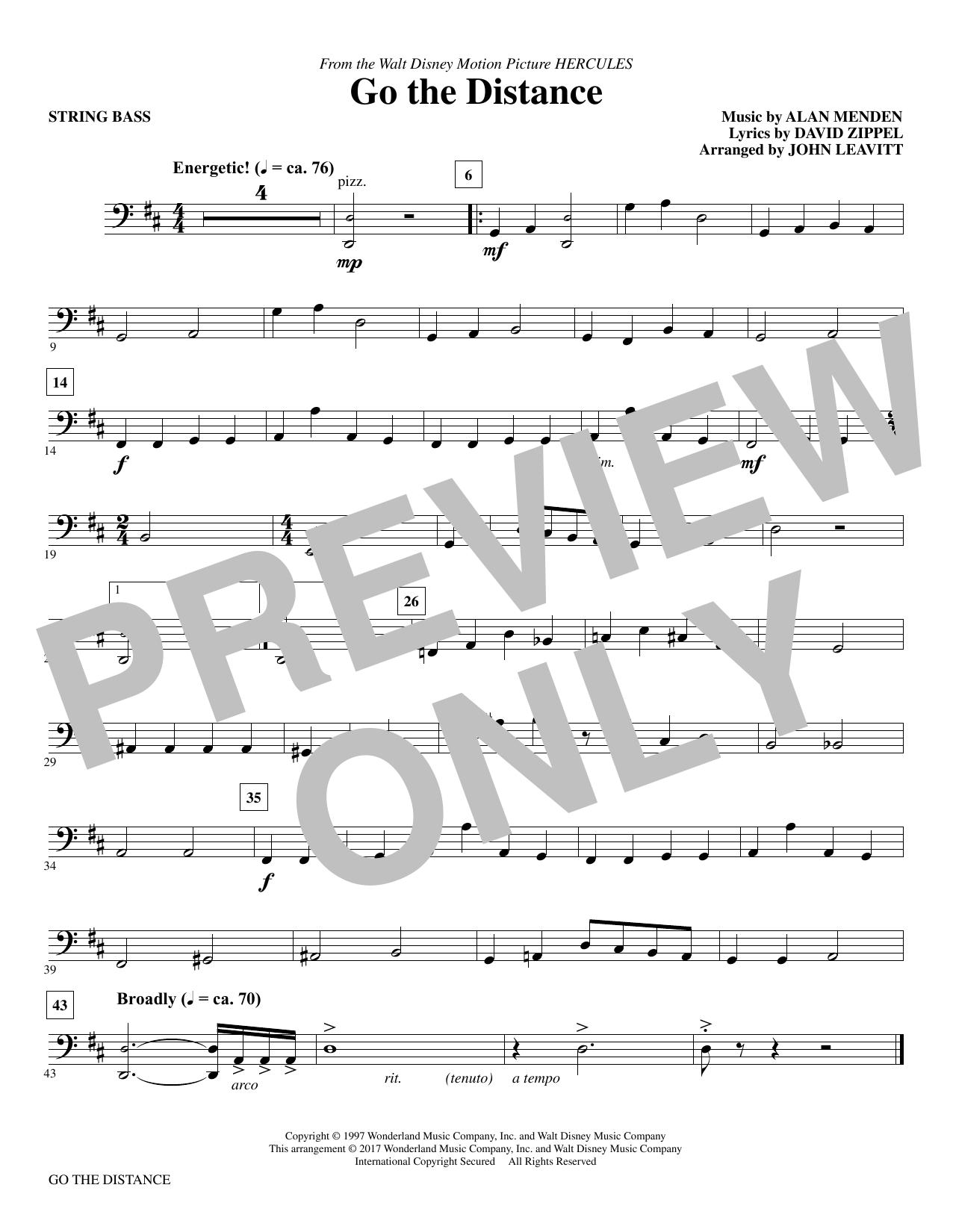 Go the Distance - Bass (Choir Instrumental Pak)
