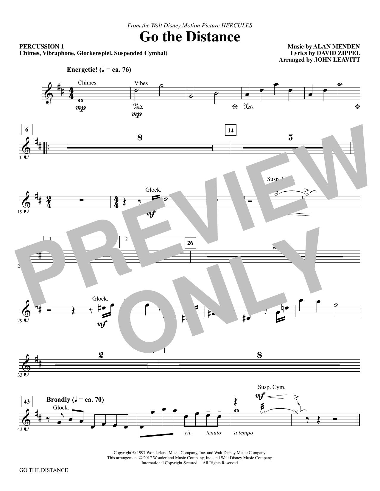 Go the Distance - Percussion I (Choir Instrumental Pak)