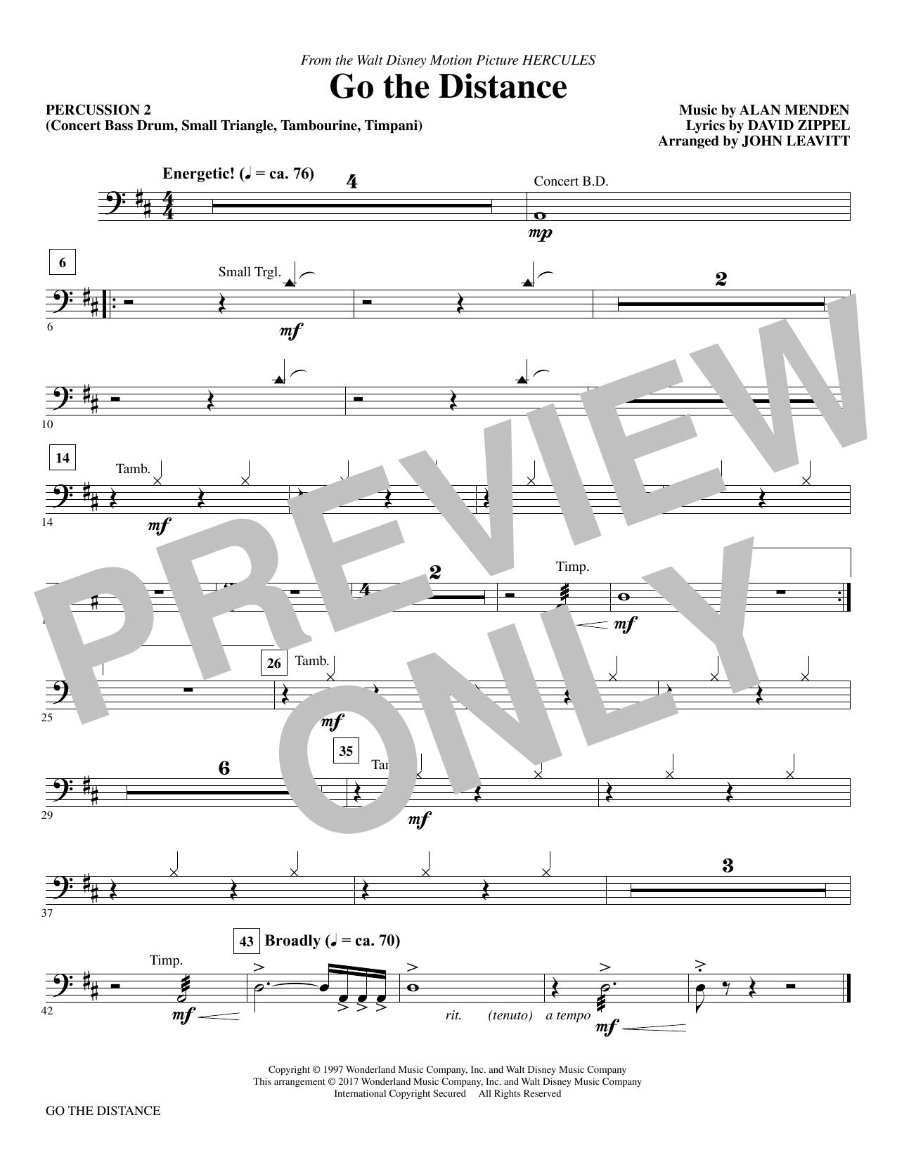 Go the Distance - Percussion II (Choir Instrumental Pak)