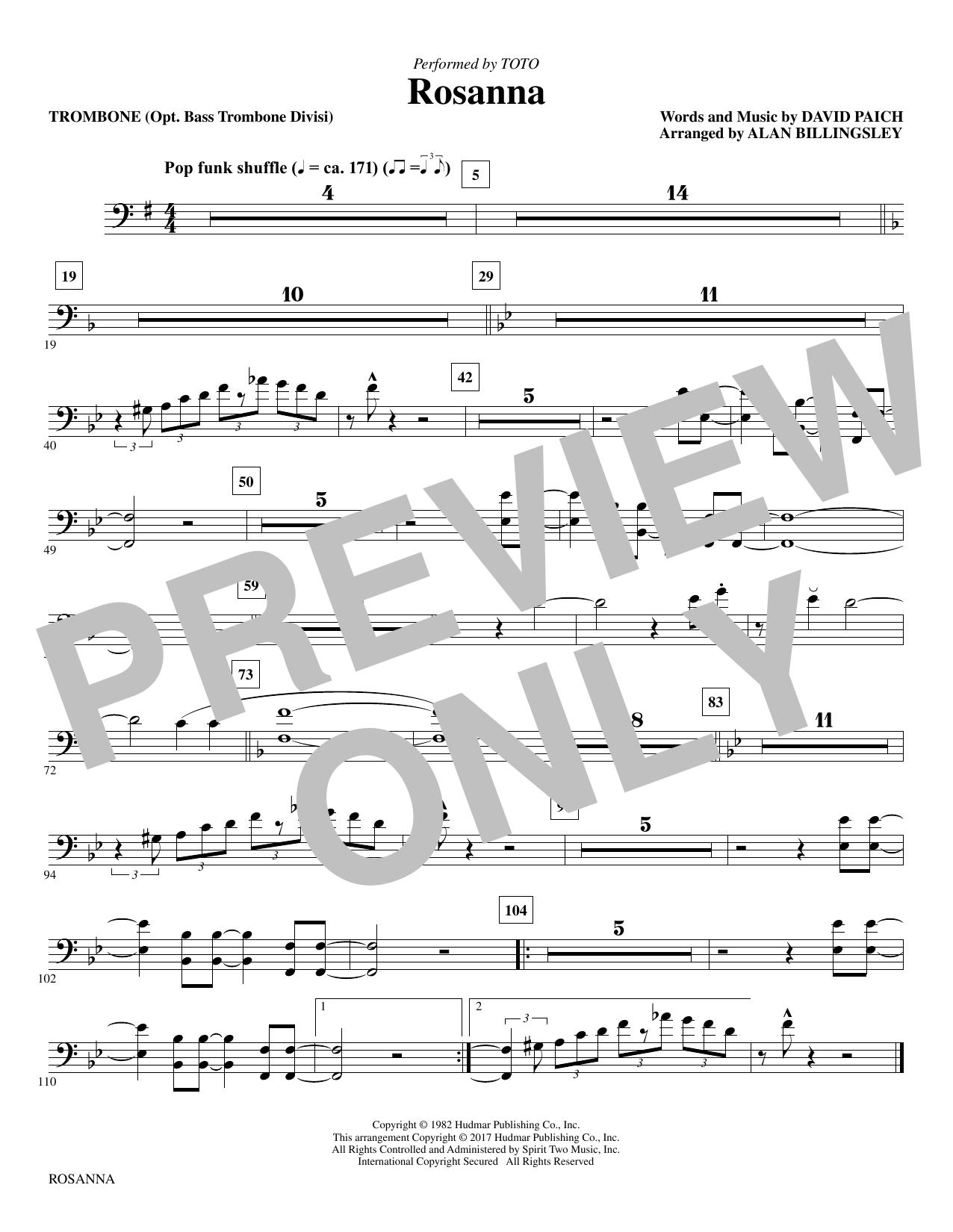 Rosanna - Trombone (Choir Instrumental Pak)
