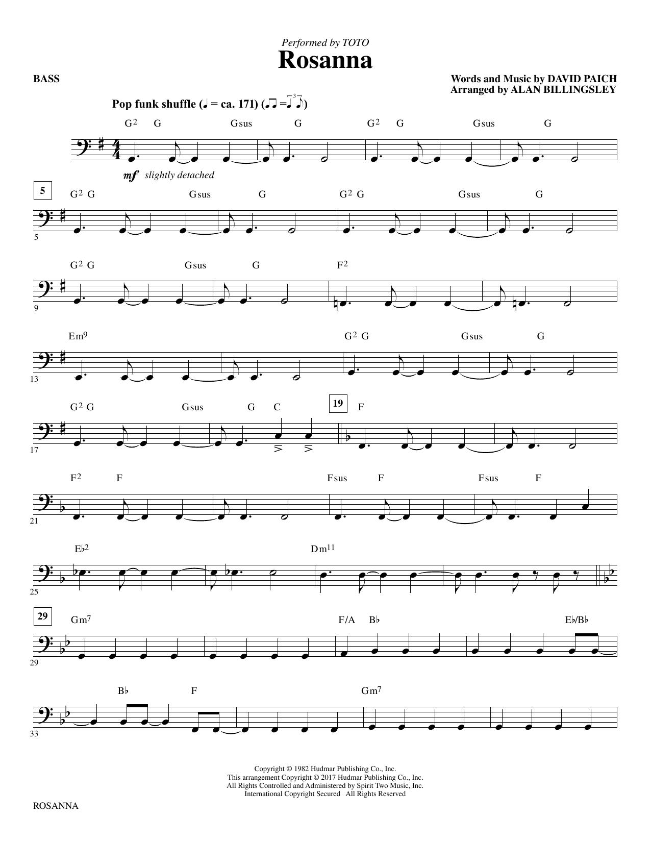 Rosanna Bass Atstantons Sheet Music