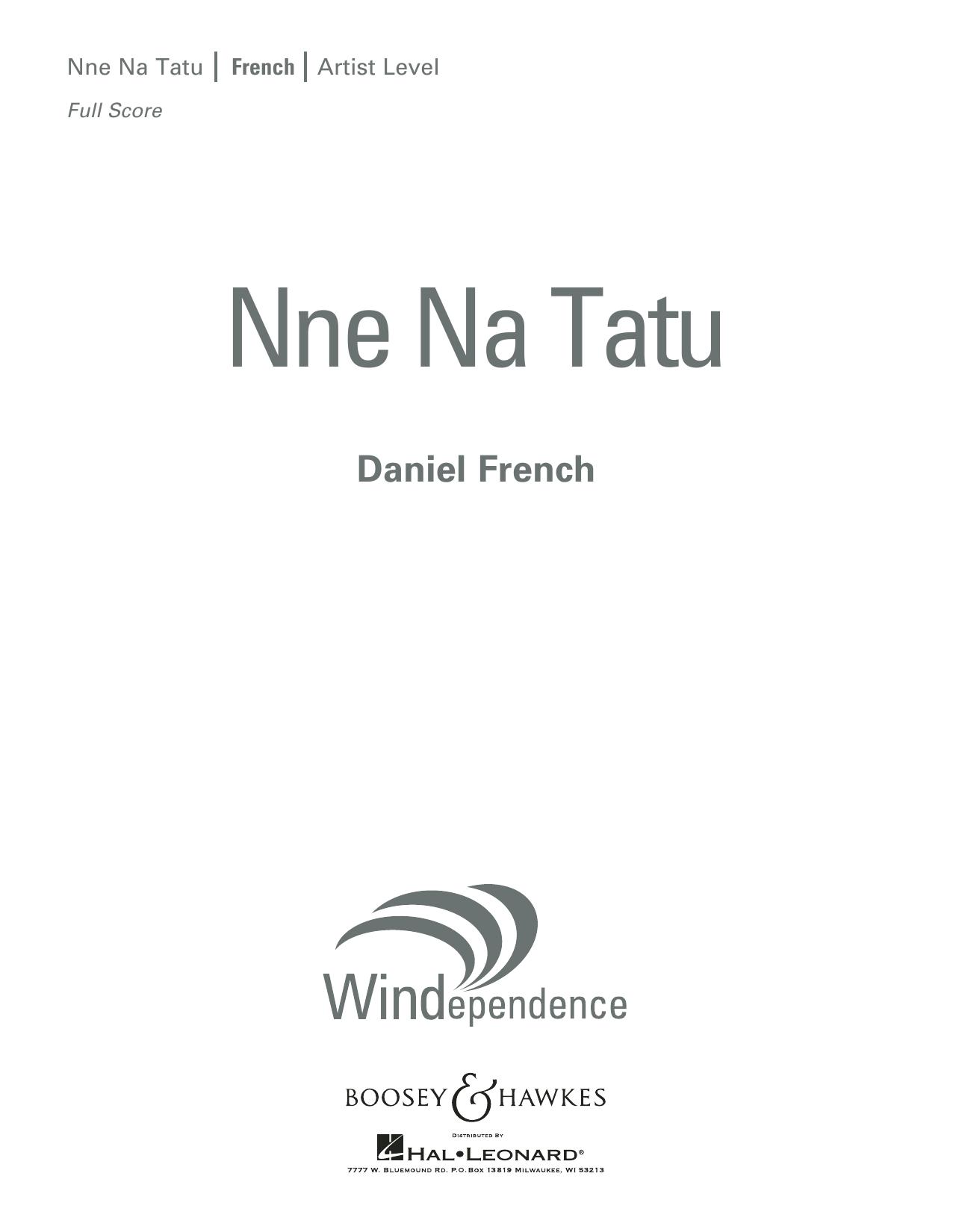 Nne Na Tatu - Conductor Score (Full Score) (Concert Band)