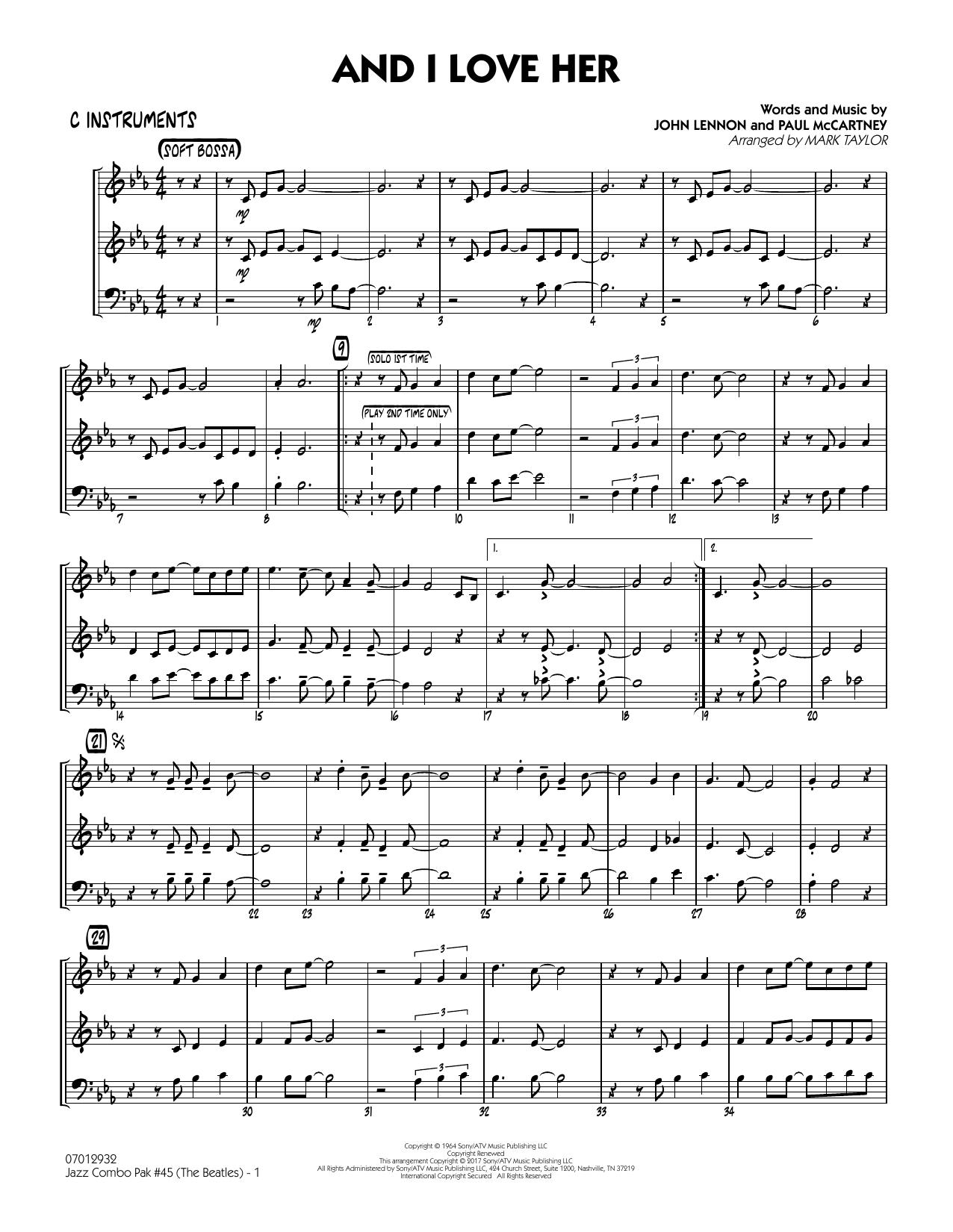 Jazz Combo Pak #45 (The Beatles) - C Instruments (Jazz Ensemble)