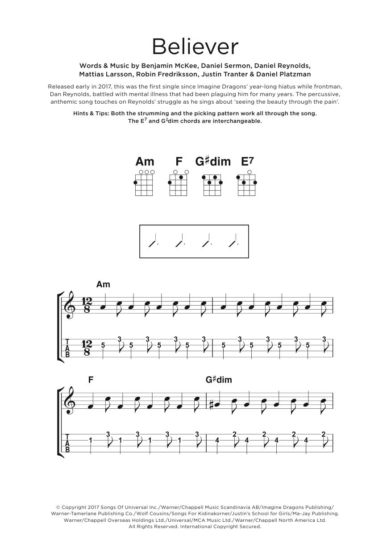 Believer Sheet Music
