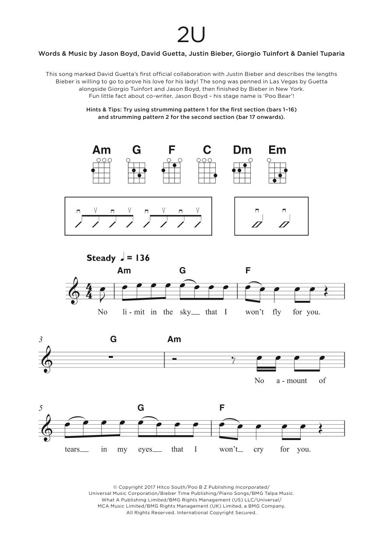 2U Sheet Music