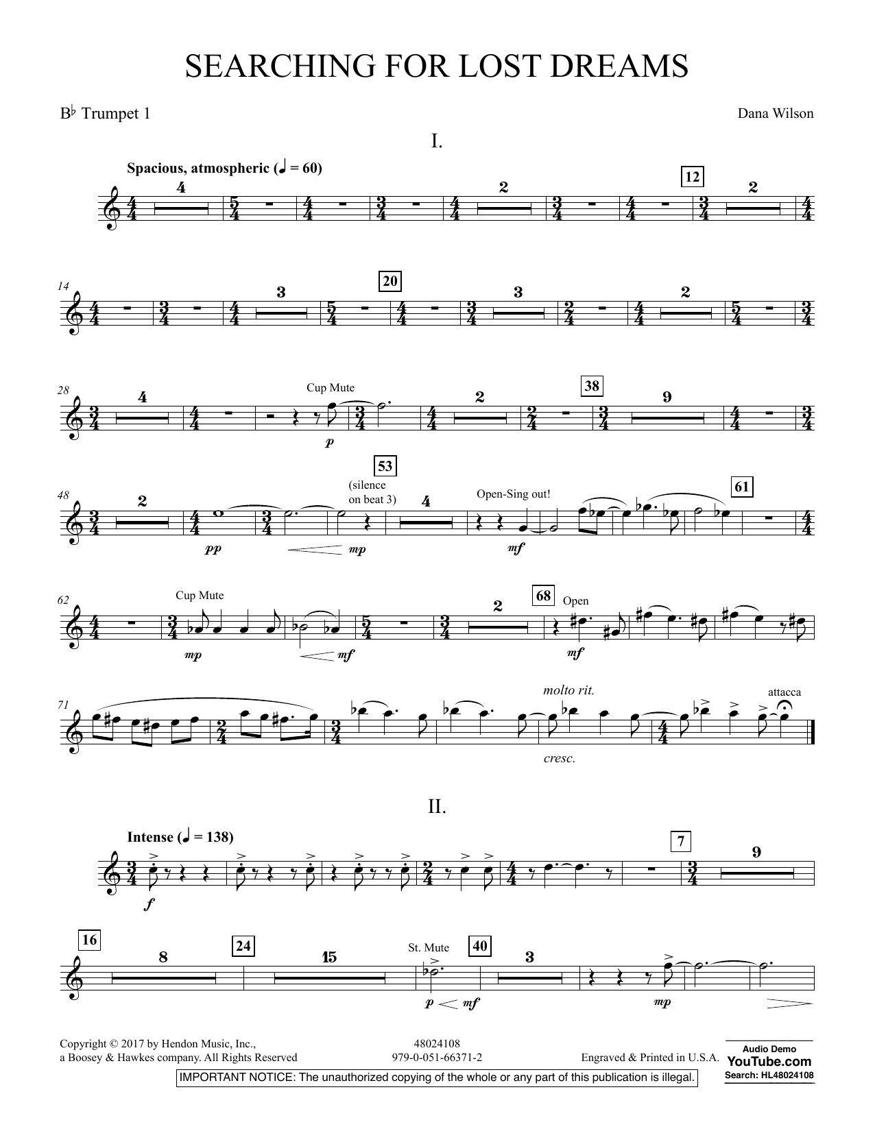 Searching for Lost Dreams - Bb Trumpet 1 (Concert Band)