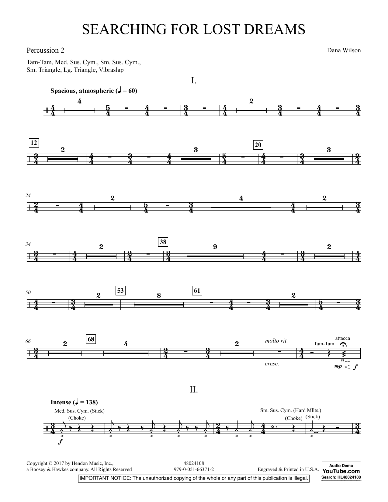 Searching for Lost Dreams - Percussion 2 (Concert Band)