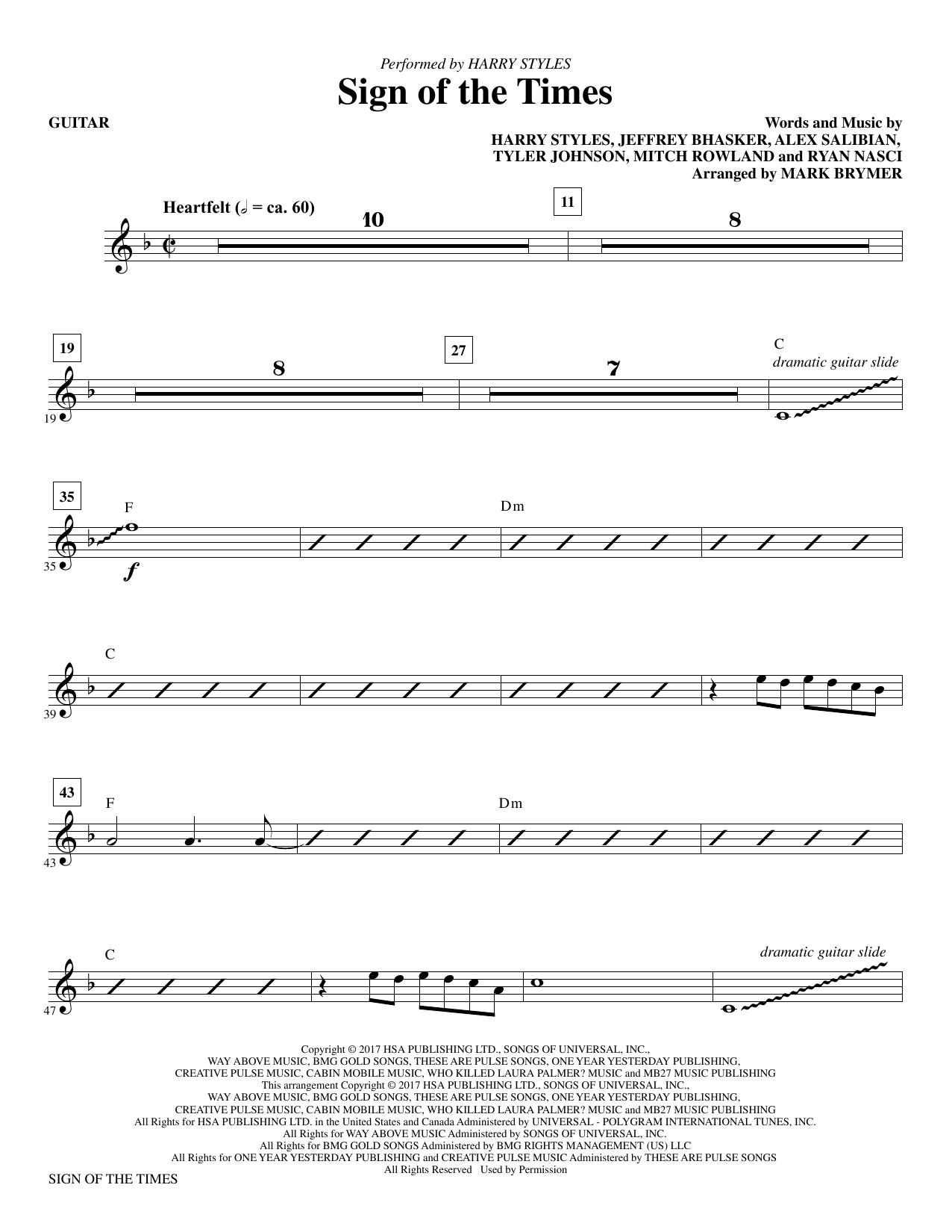 Sign of the Times - Guitar (Choir Instrumental Pak)