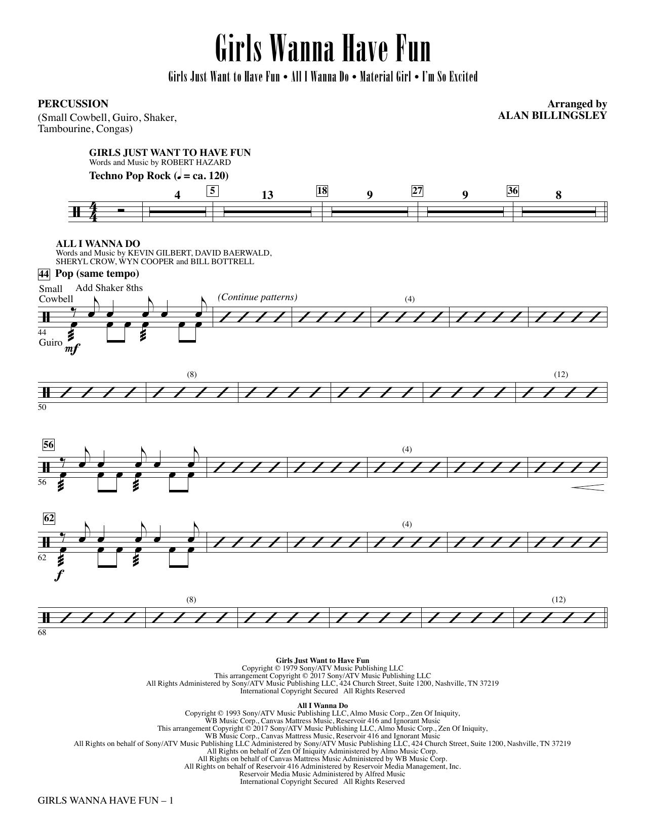 Girls Wanna Have Fun (Medley) - Percussion (Choir Instrumental Pak)