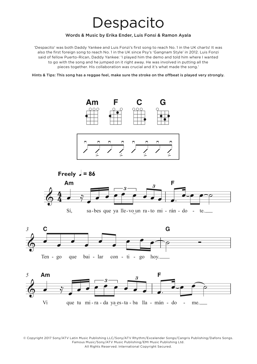 Despacito (feat. Daddy Yankee) Sheet Music