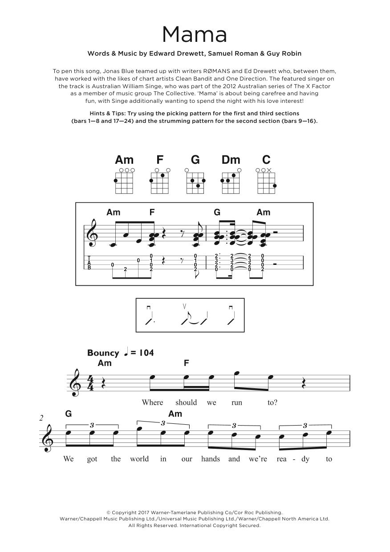 Mama (feat. William Singe) Sheet Music