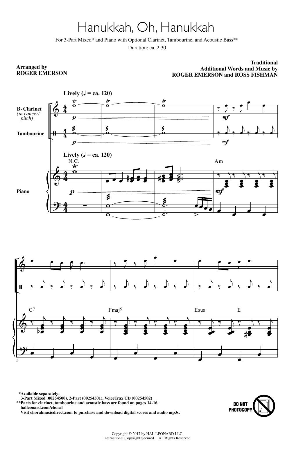 Hanukkah, Oh, Hanukkah Sheet Music