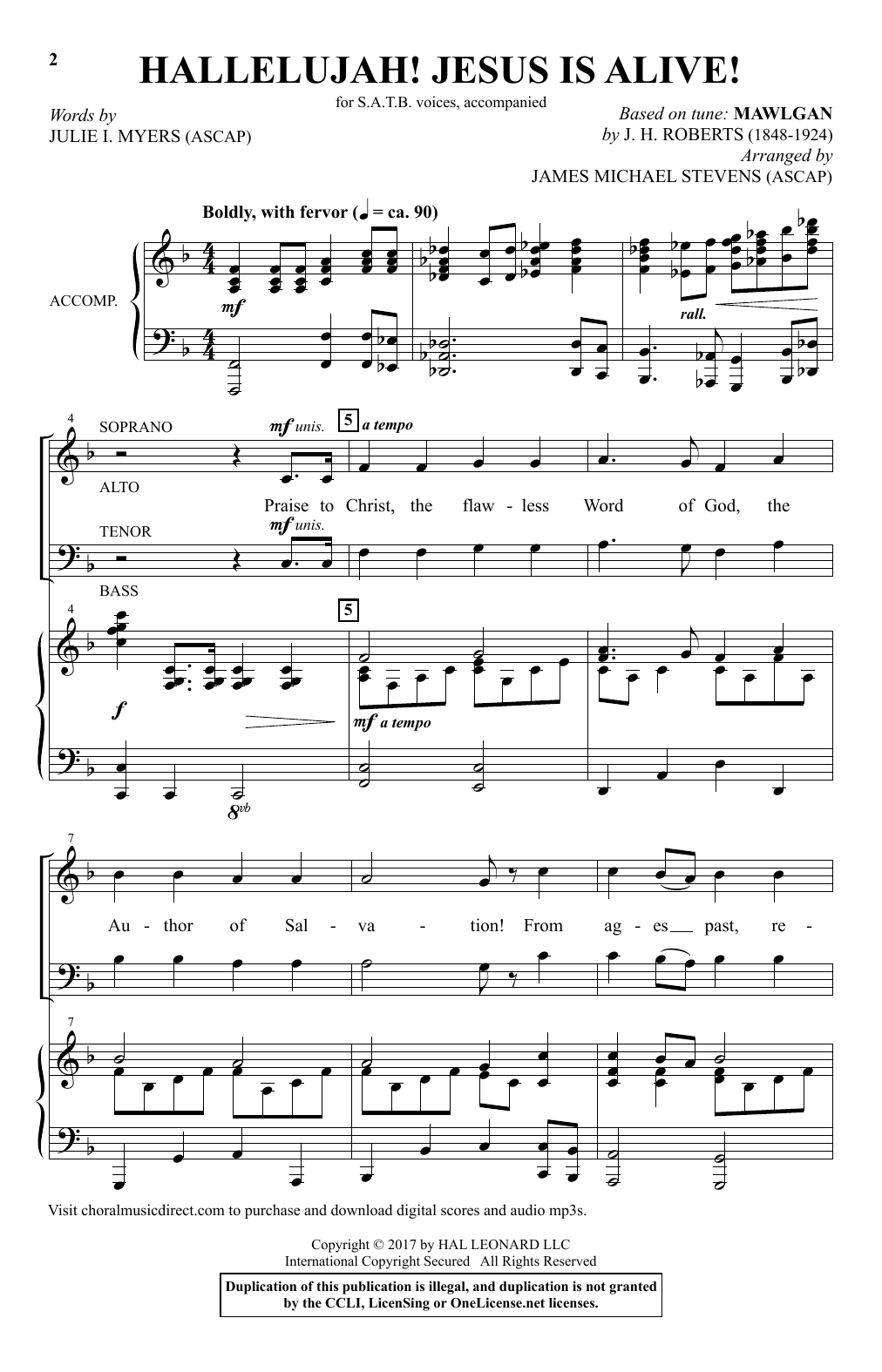 Hallelujah! Jesus Is Alive! Sheet Music