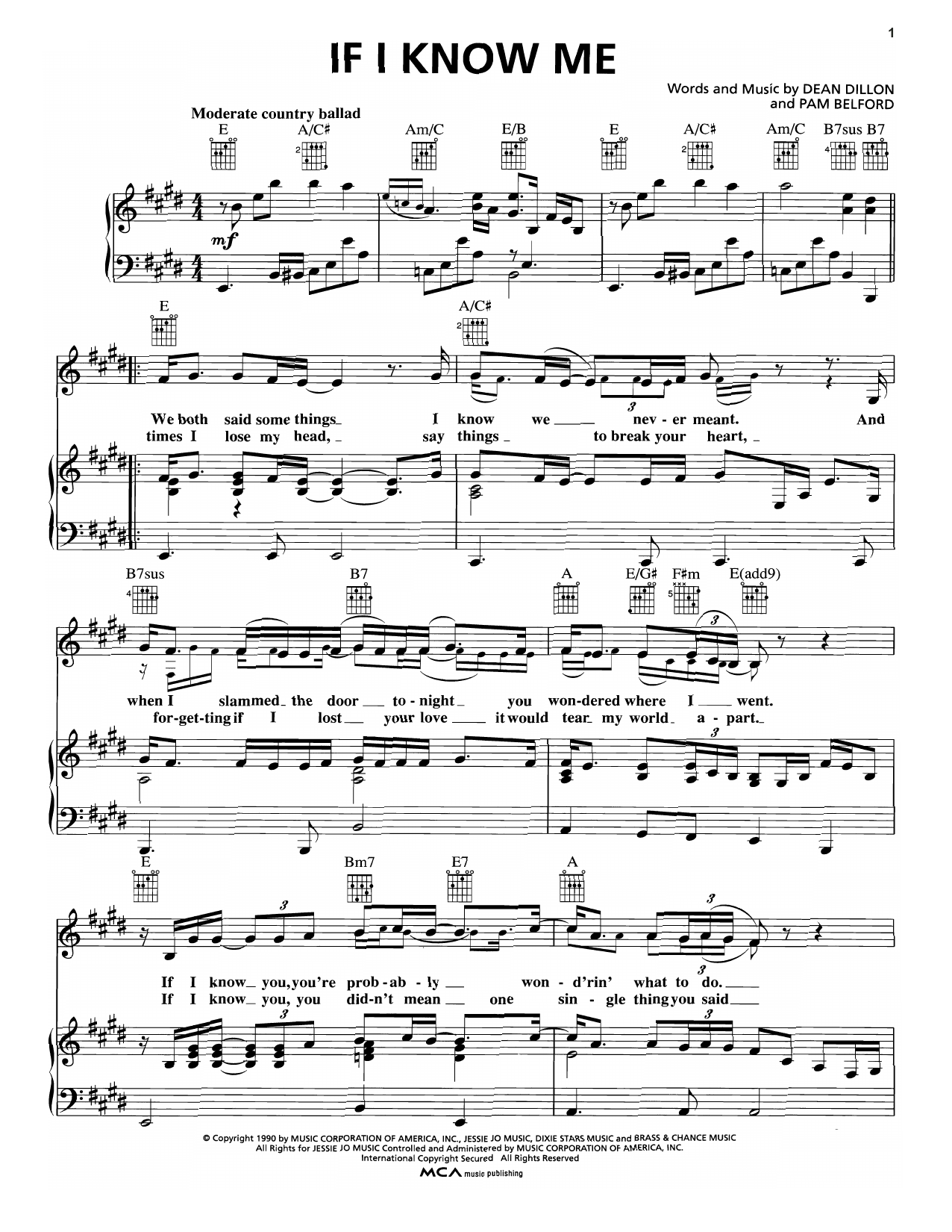 If I Know Me Sheet Music
