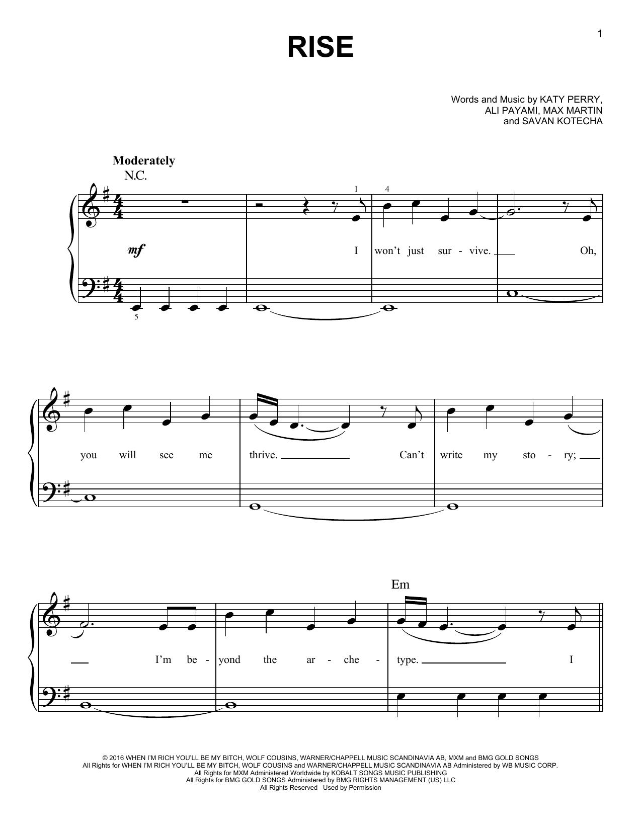 Rise (Easy Piano)