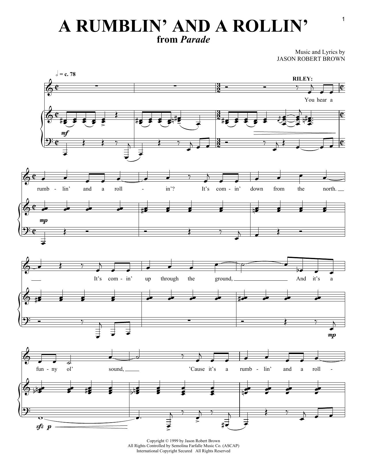 A Rumblin' And A Rollin' Sheet Music
