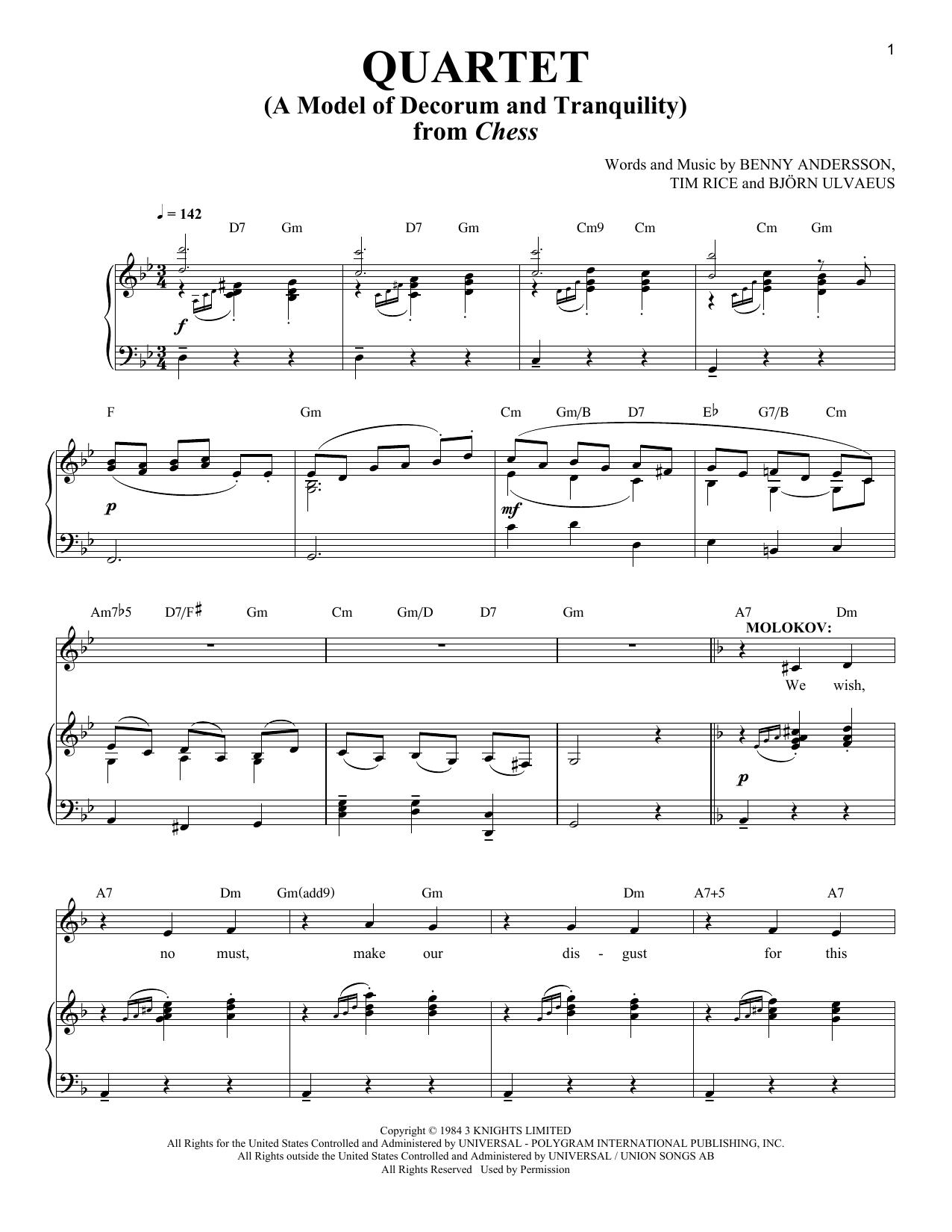 Quartet (A Model Of Decorum and Tranquility) Sheet Music