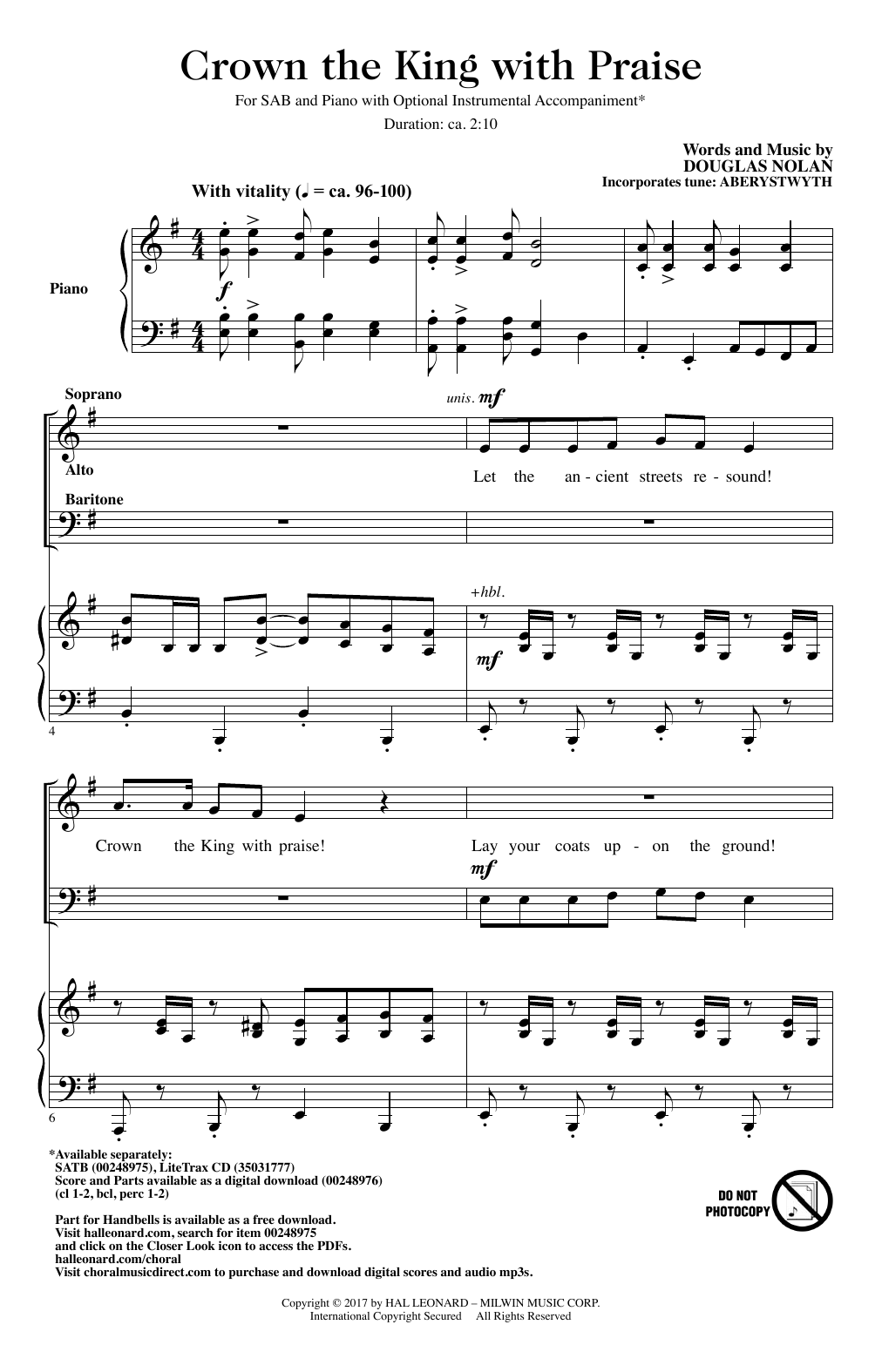 Crown The King With Praise Sheet Music