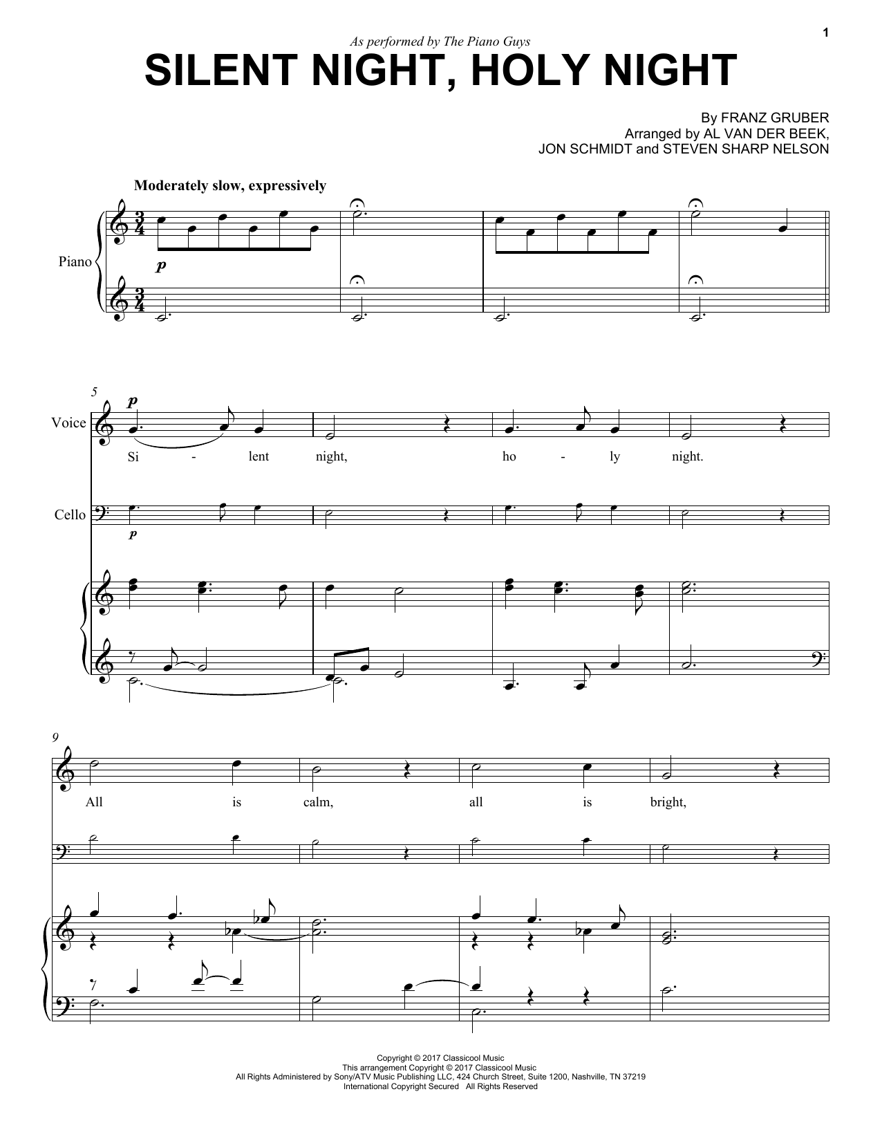 Silent Night, Holy Night Sheet Music
