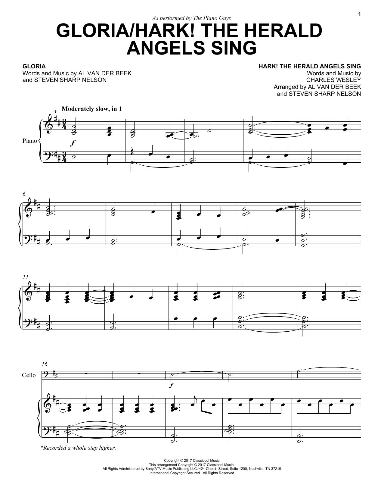 Gloria/Hark! The Herald Angels Sing Sheet Music