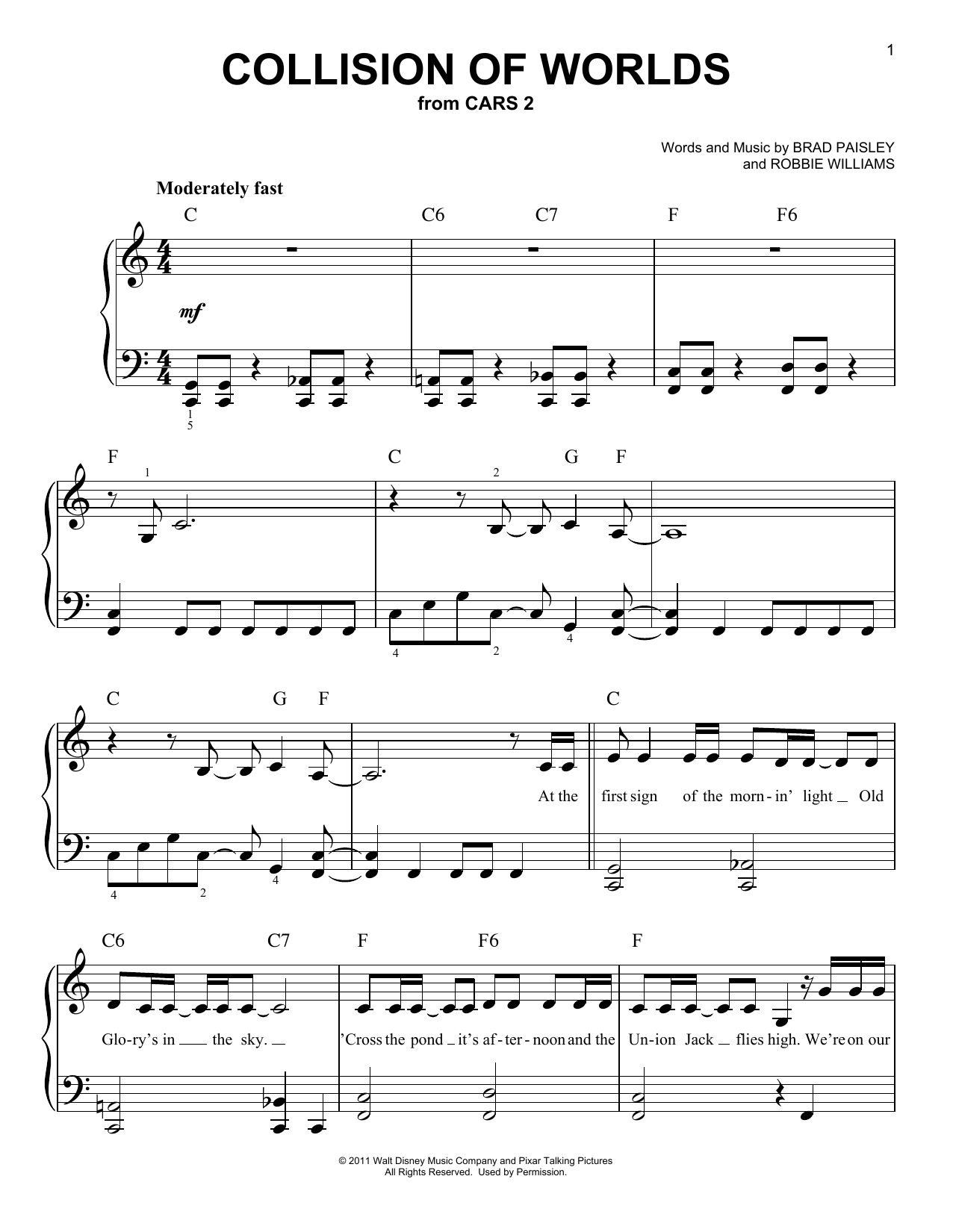 Collision Of Worlds (Easy Piano)