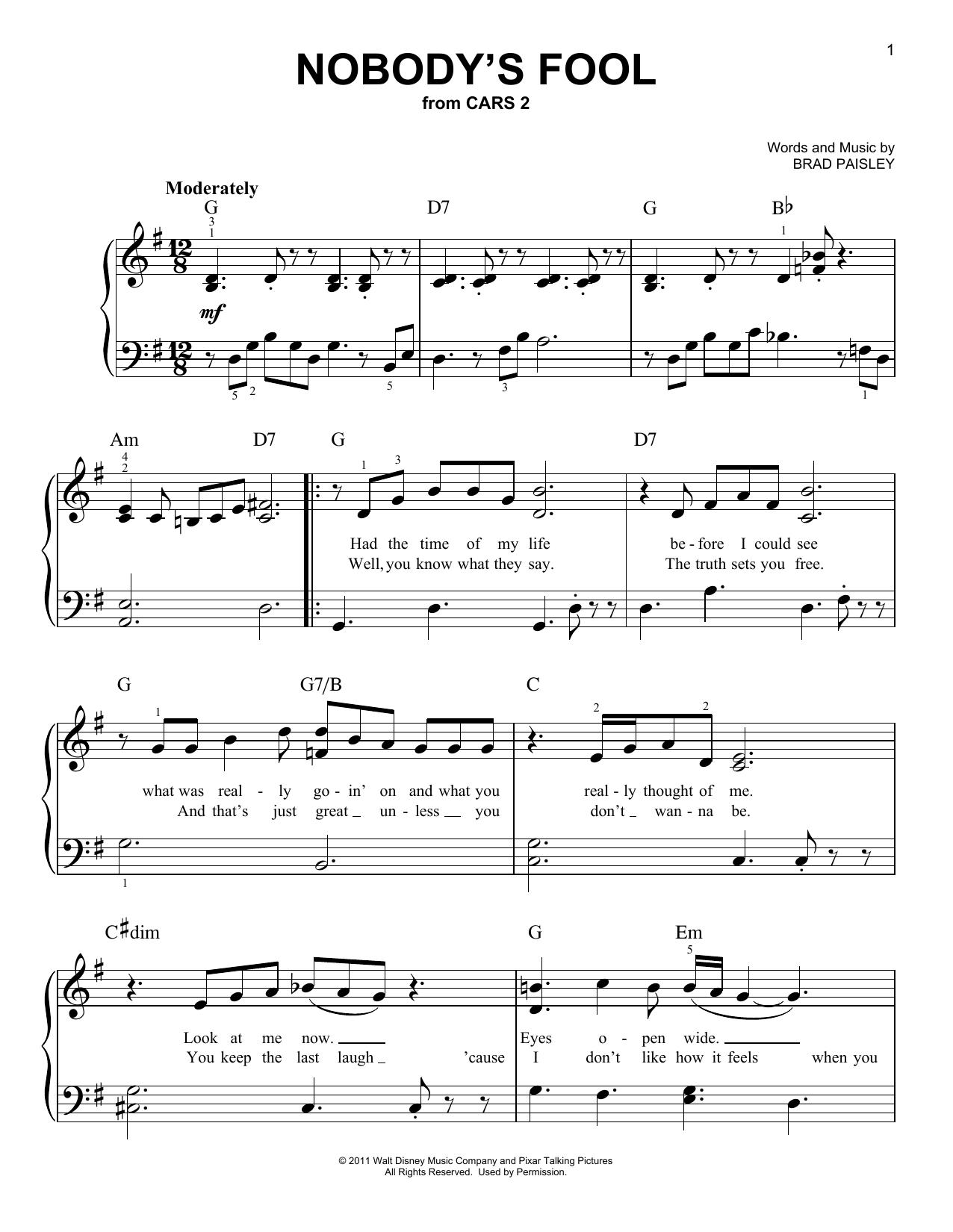 Nobody's Fool (Easy Piano)