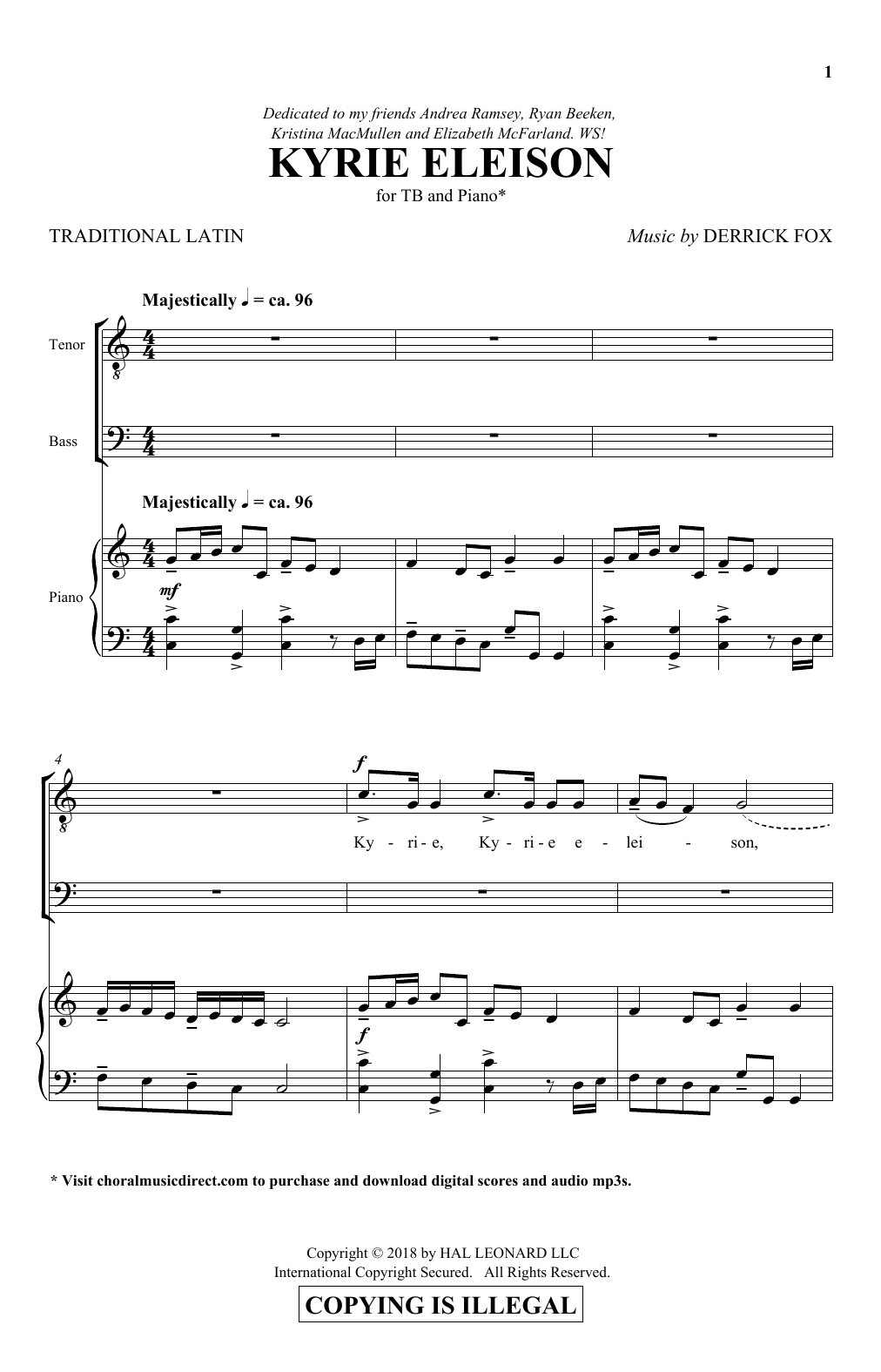 Kyrie Eleison Sheet Music