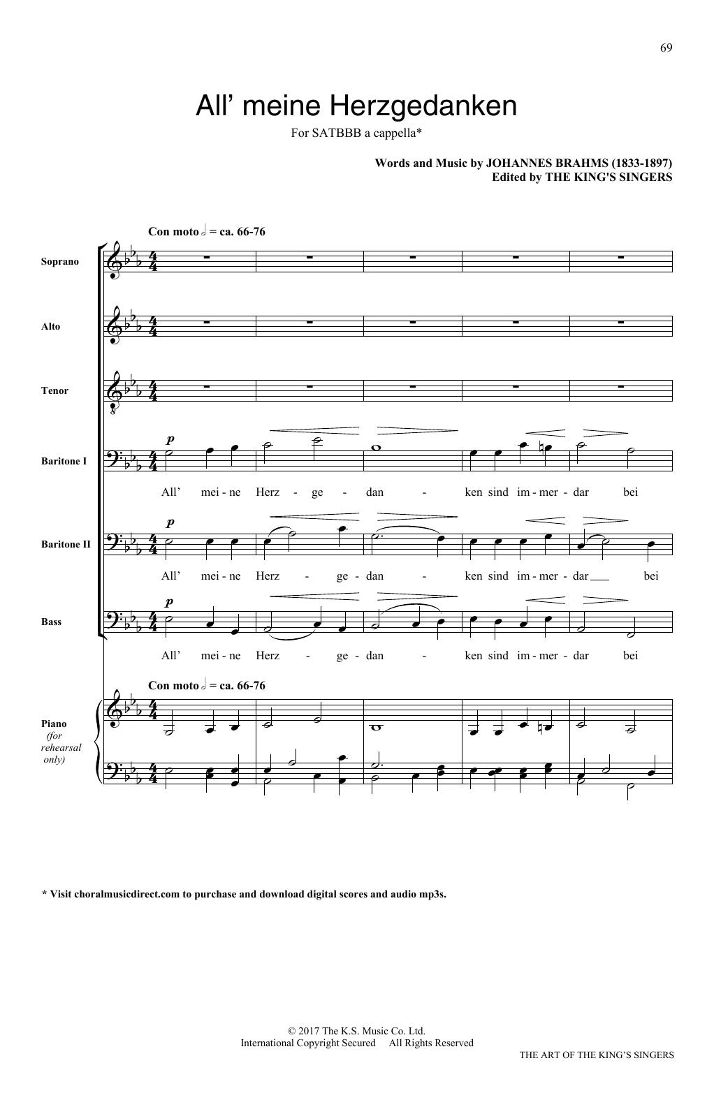 Alle meine Herzgedanken (SATB Choir)