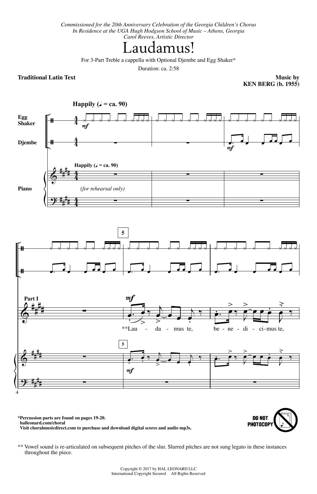 Laudamus! Sheet Music