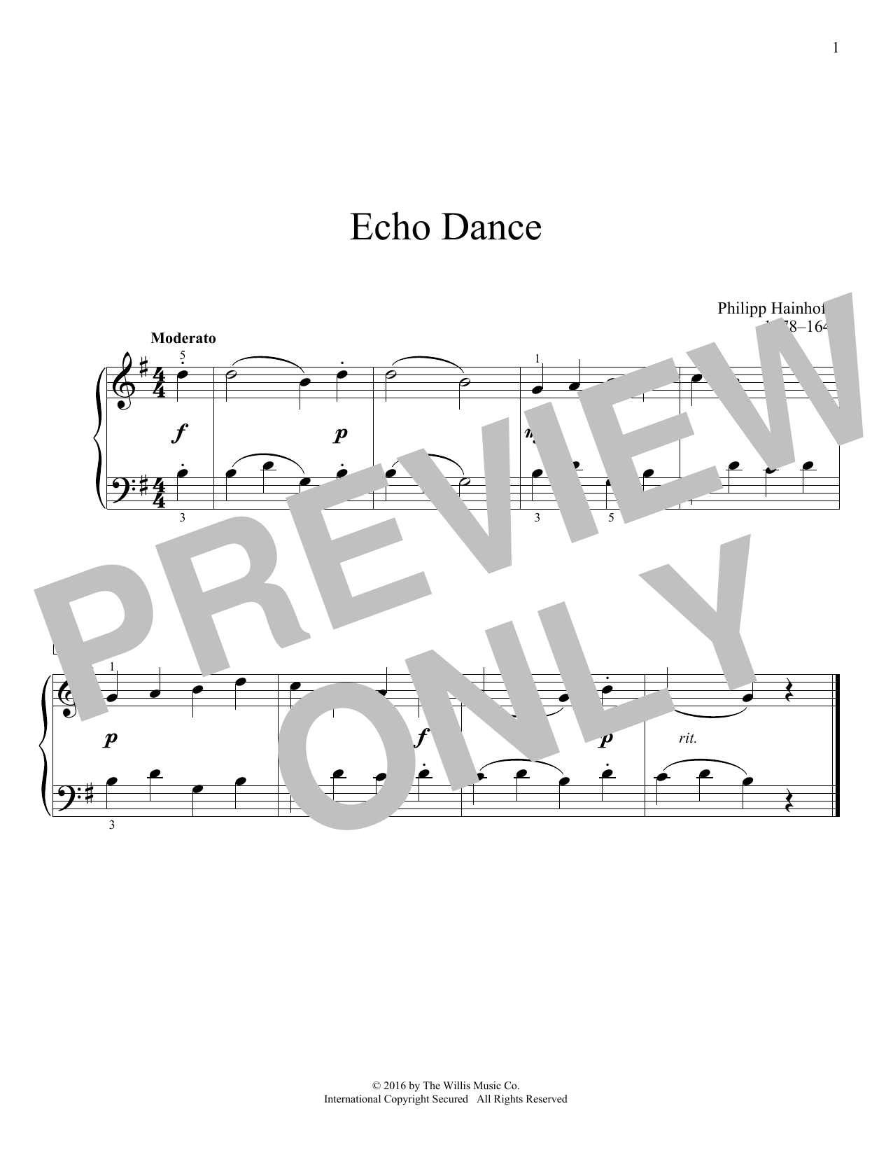 Echo Dance Sheet Music