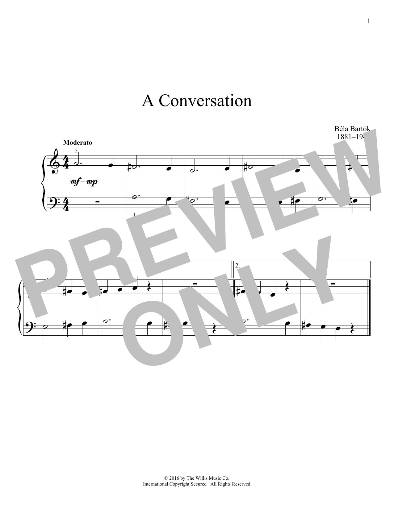 A Conversation Sheet Music
