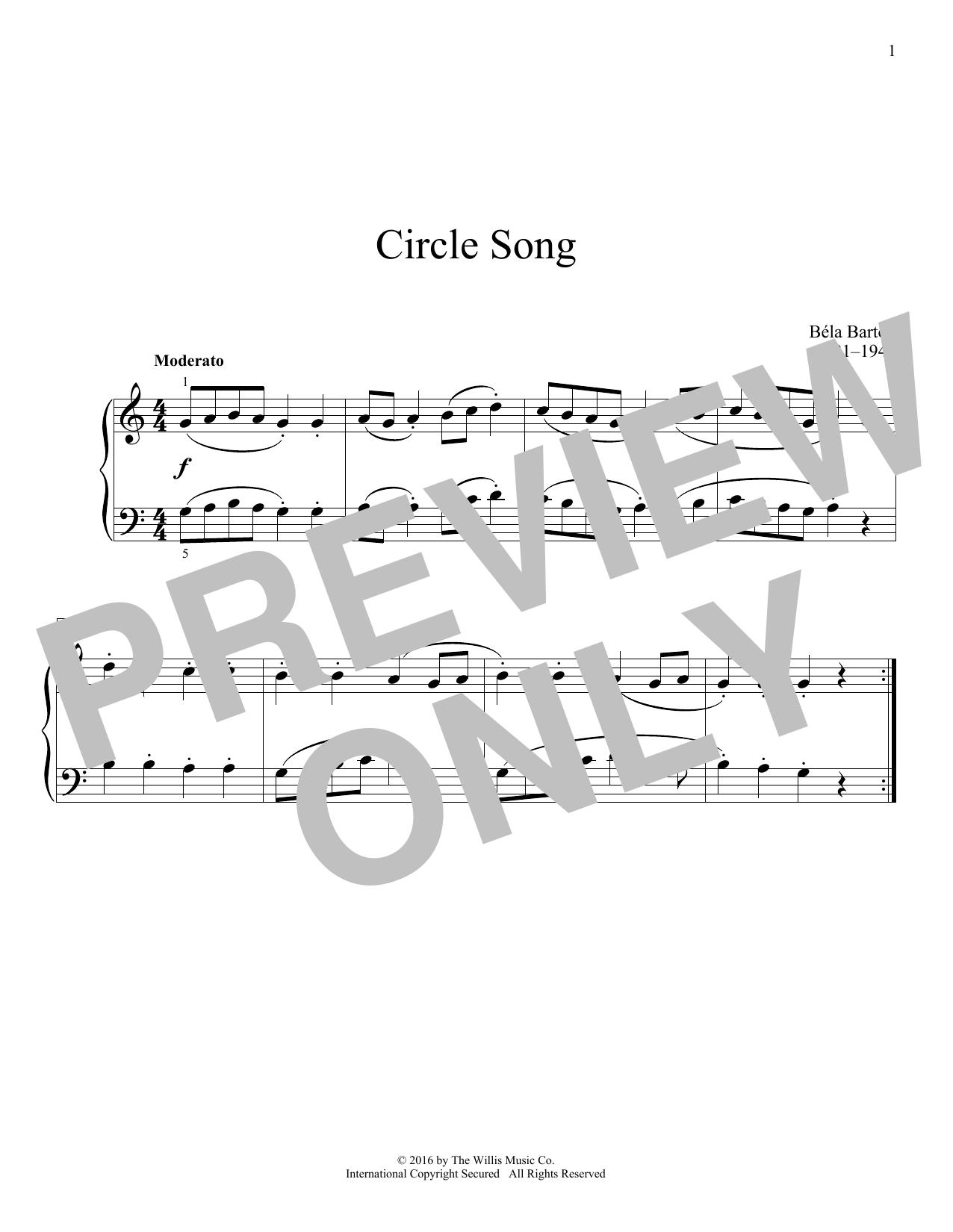Circle Song Sheet Music