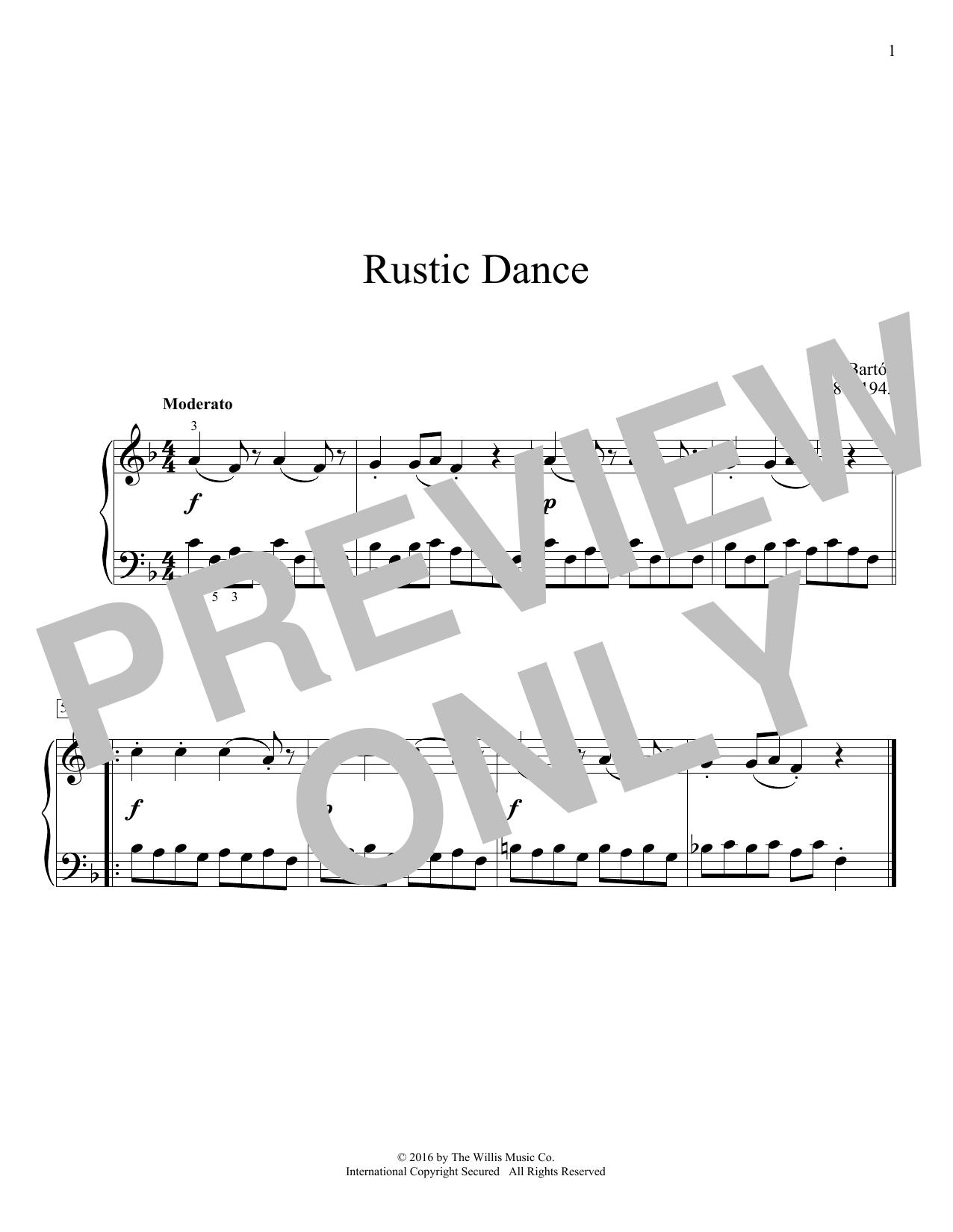 Rustic Dance Sheet Music