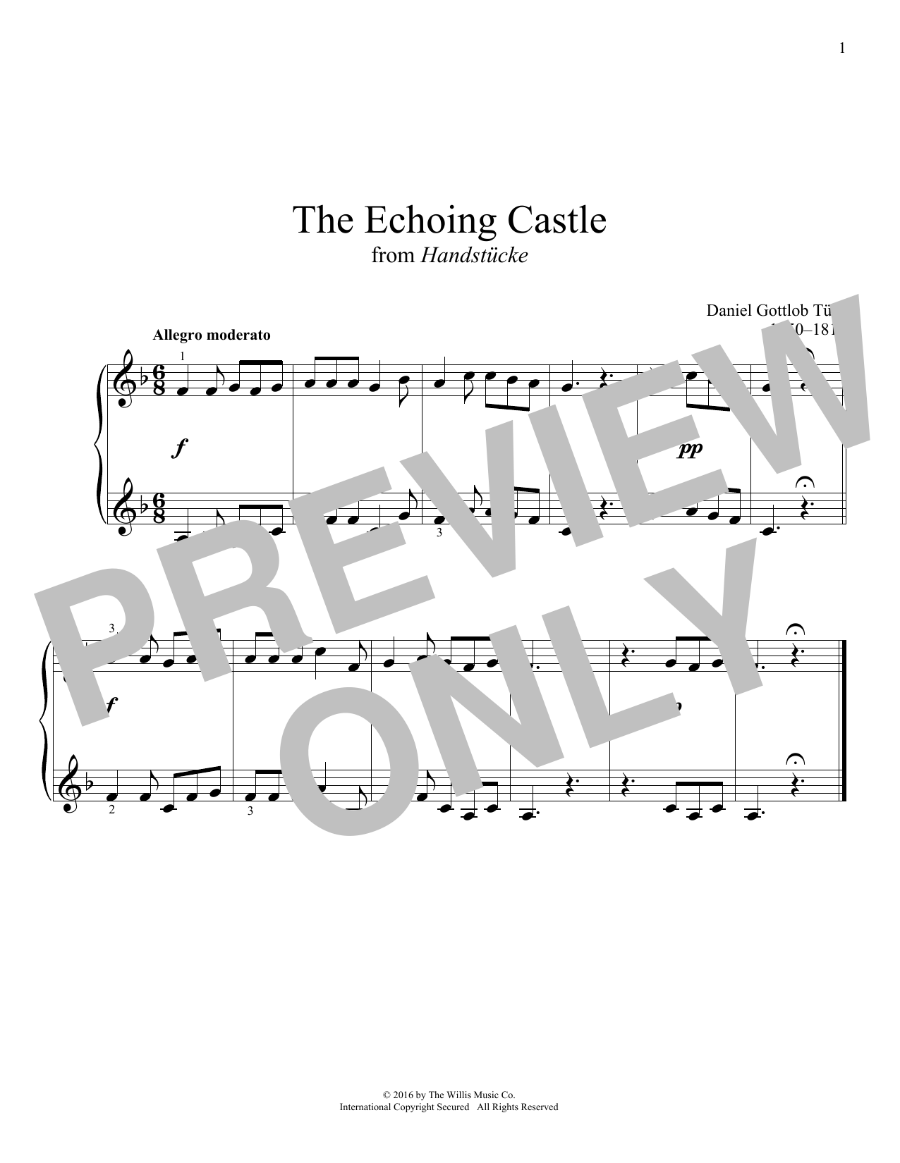 The Echoing Castle Sheet Music