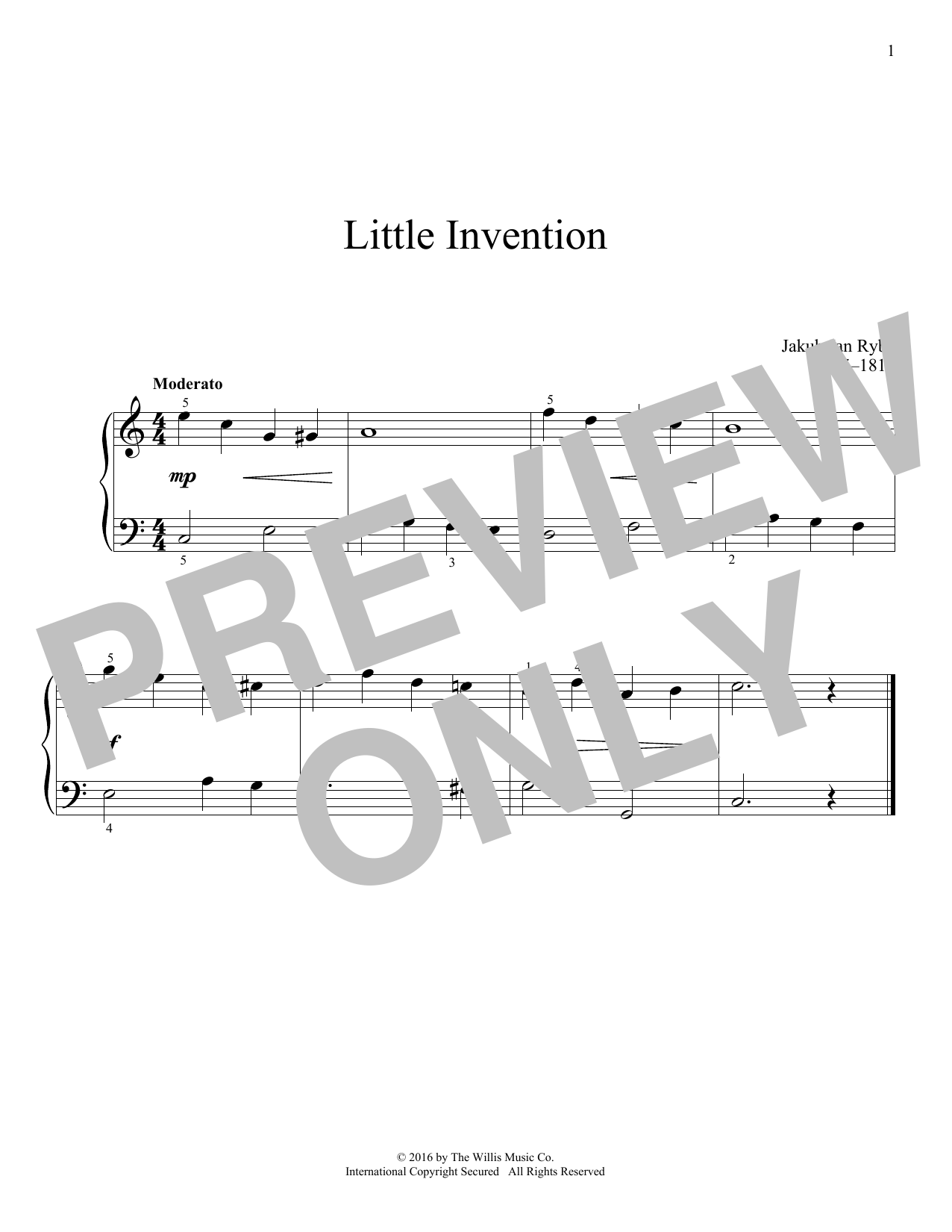 Little Invention Sheet Music
