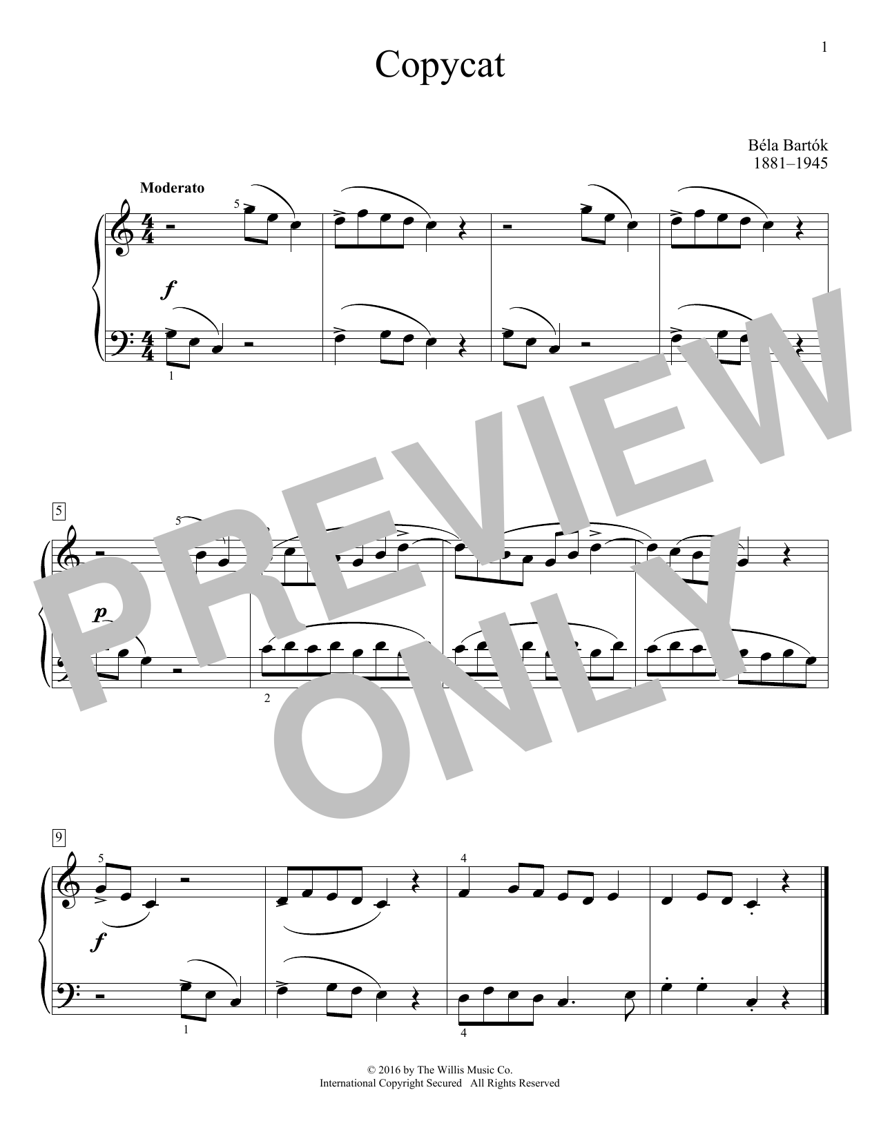 Copycat Sheet Music