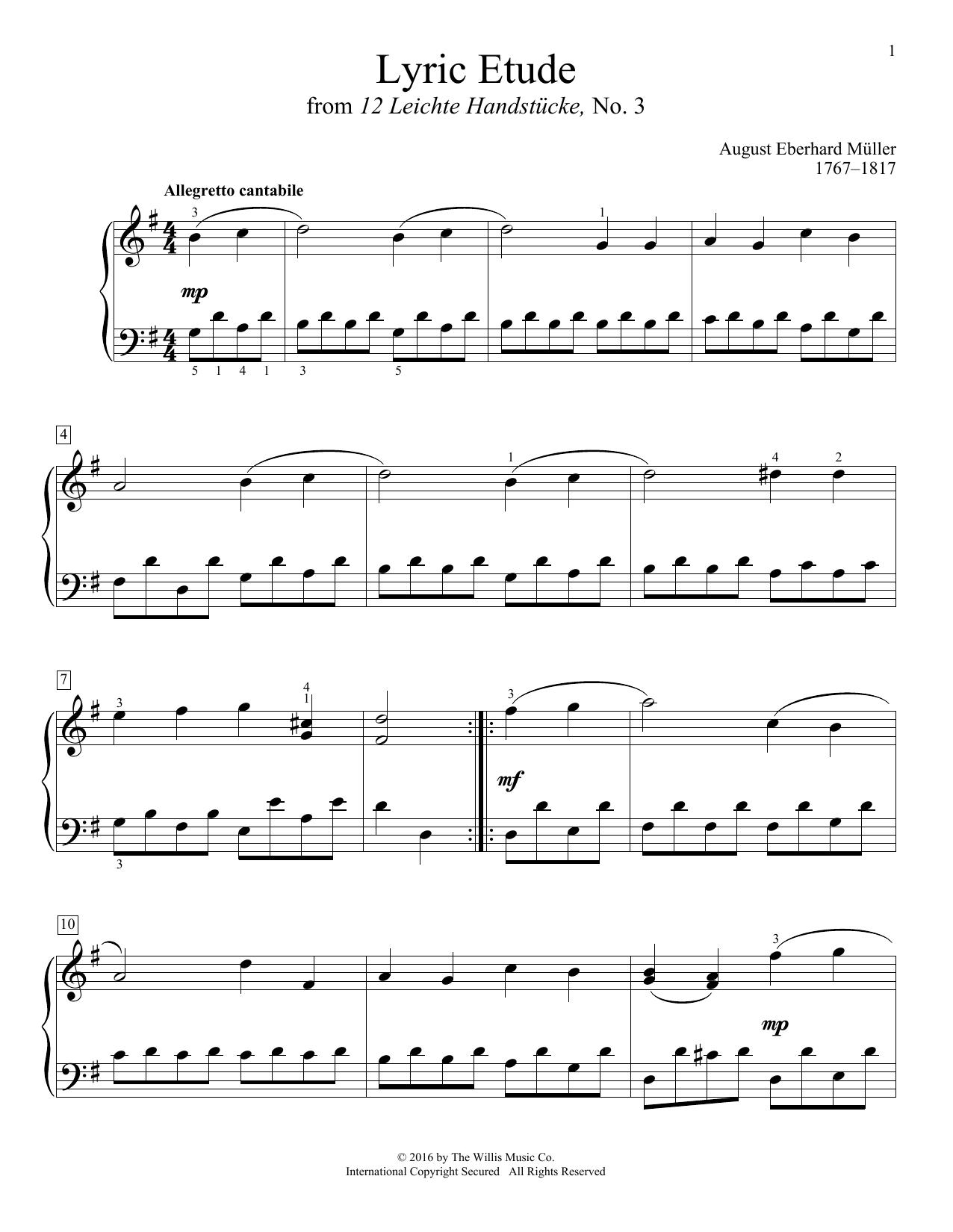 Lyric Etude Sheet Music