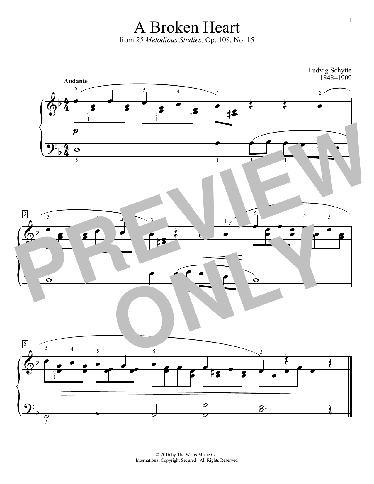 A Broken Heart Sheet Music