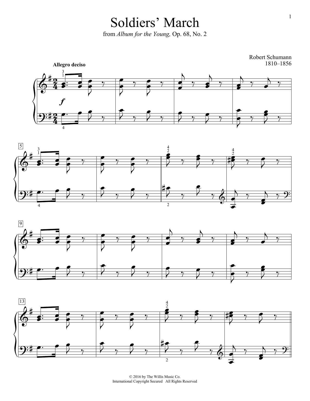 Soldier's March Sheet Music