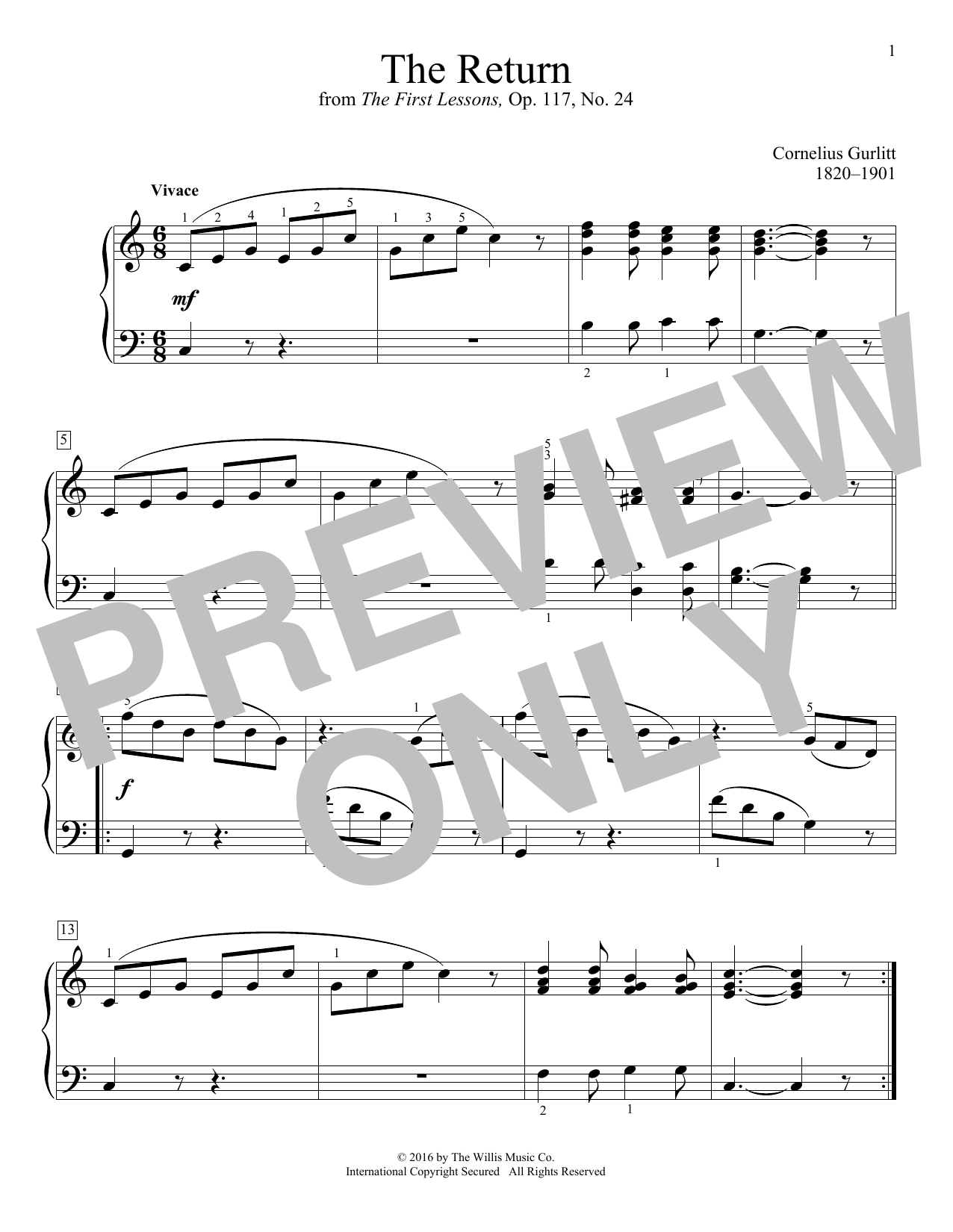 The Return Sheet Music