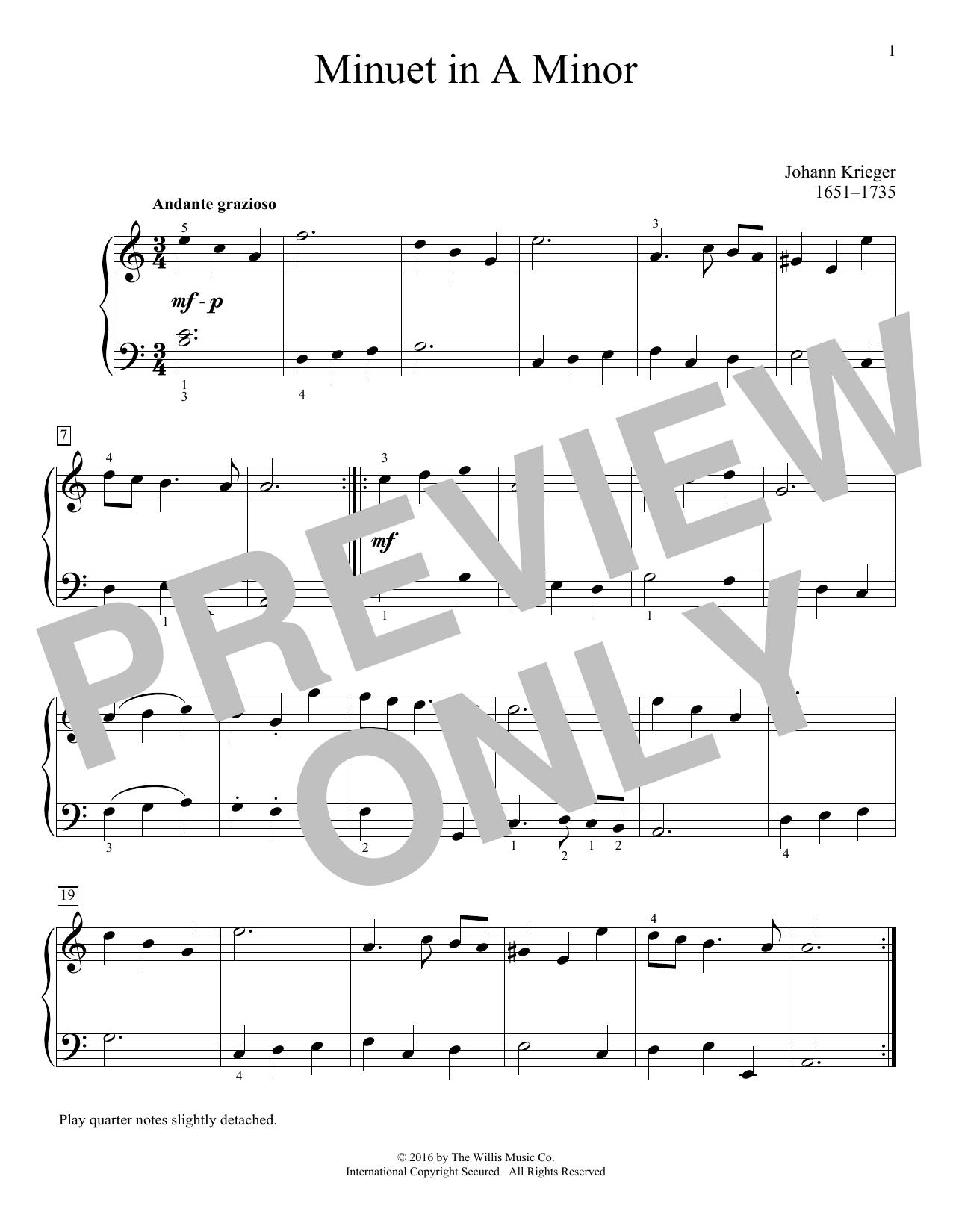 Minuet In A Minor Sheet Music